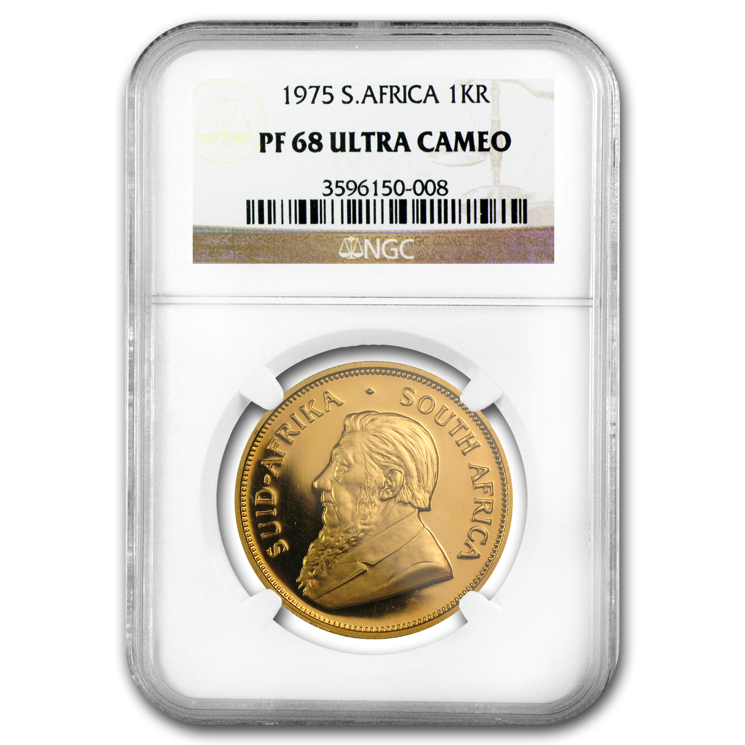 1975 1 oz Gold South African Krugerrand PF-68 UCAM NGC
