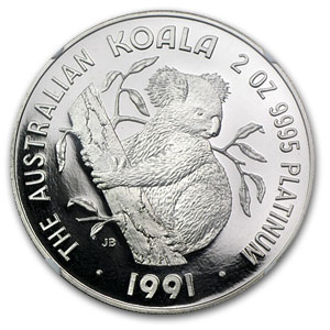 1991 Australia 2 oz Proof Platinum Koala PF-69 NGC