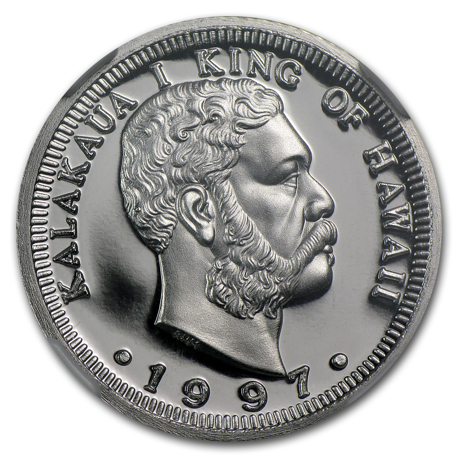 1997 1/4 oz Hawaiian Platinum King (PF-70 UCAM NGC)