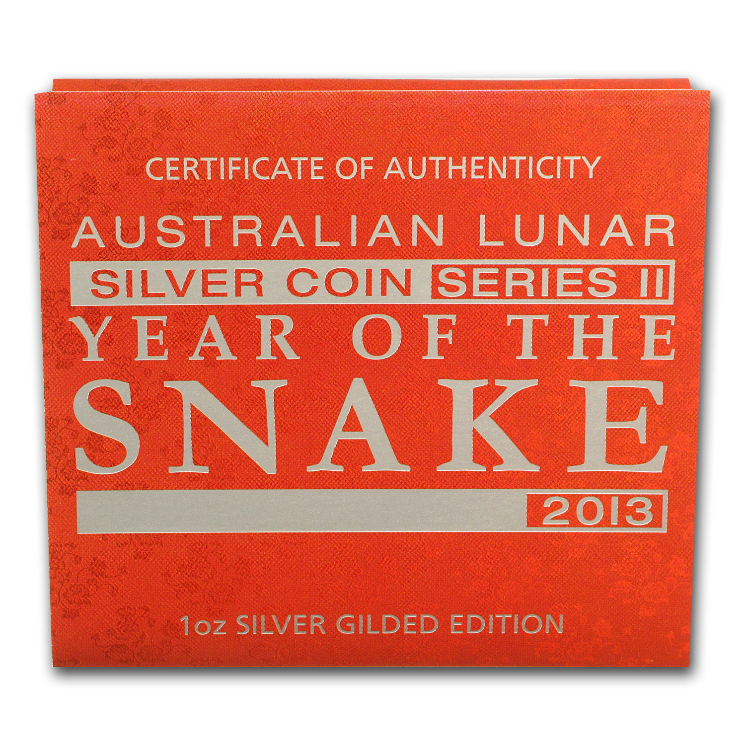 2013 Year of the Snake - 1 oz Gilded Silver (SII) (Capsule)