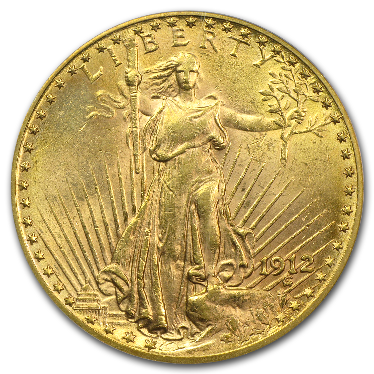 1912 $20 St. Gaudens Gold Double Eagle - MS-61 PCGS