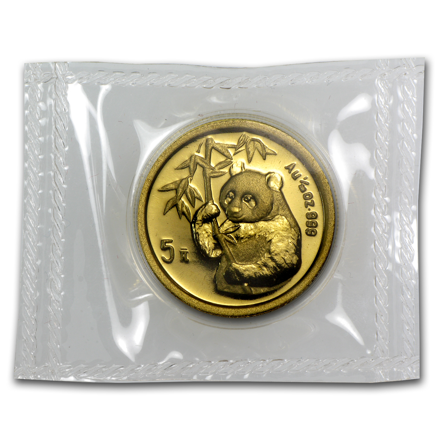 1995 China 1/20 oz Gold Panda Large Date BU (Sealed)