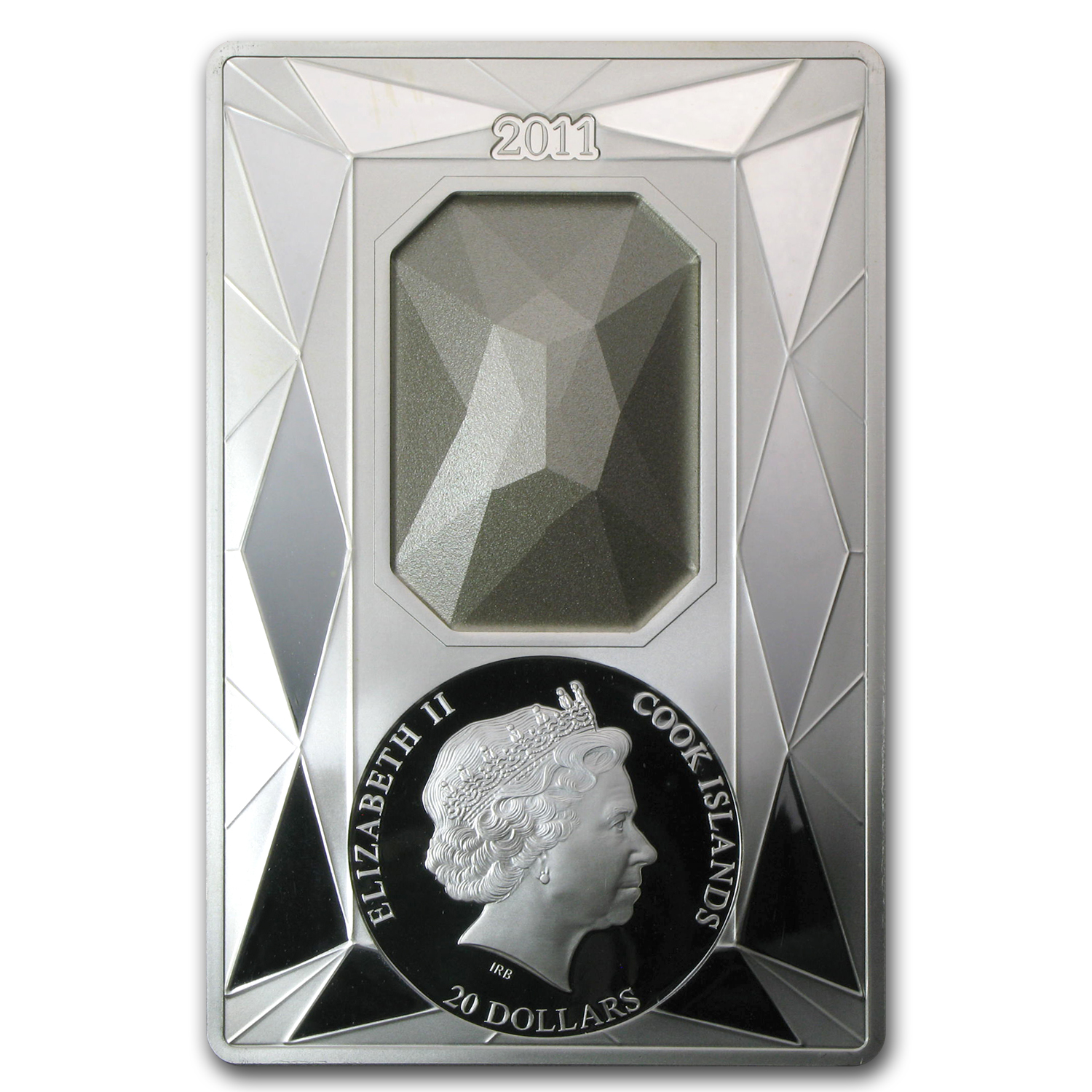2011 Cook Islands Proof Silver $20 Luxury Line Swarovski Crystal