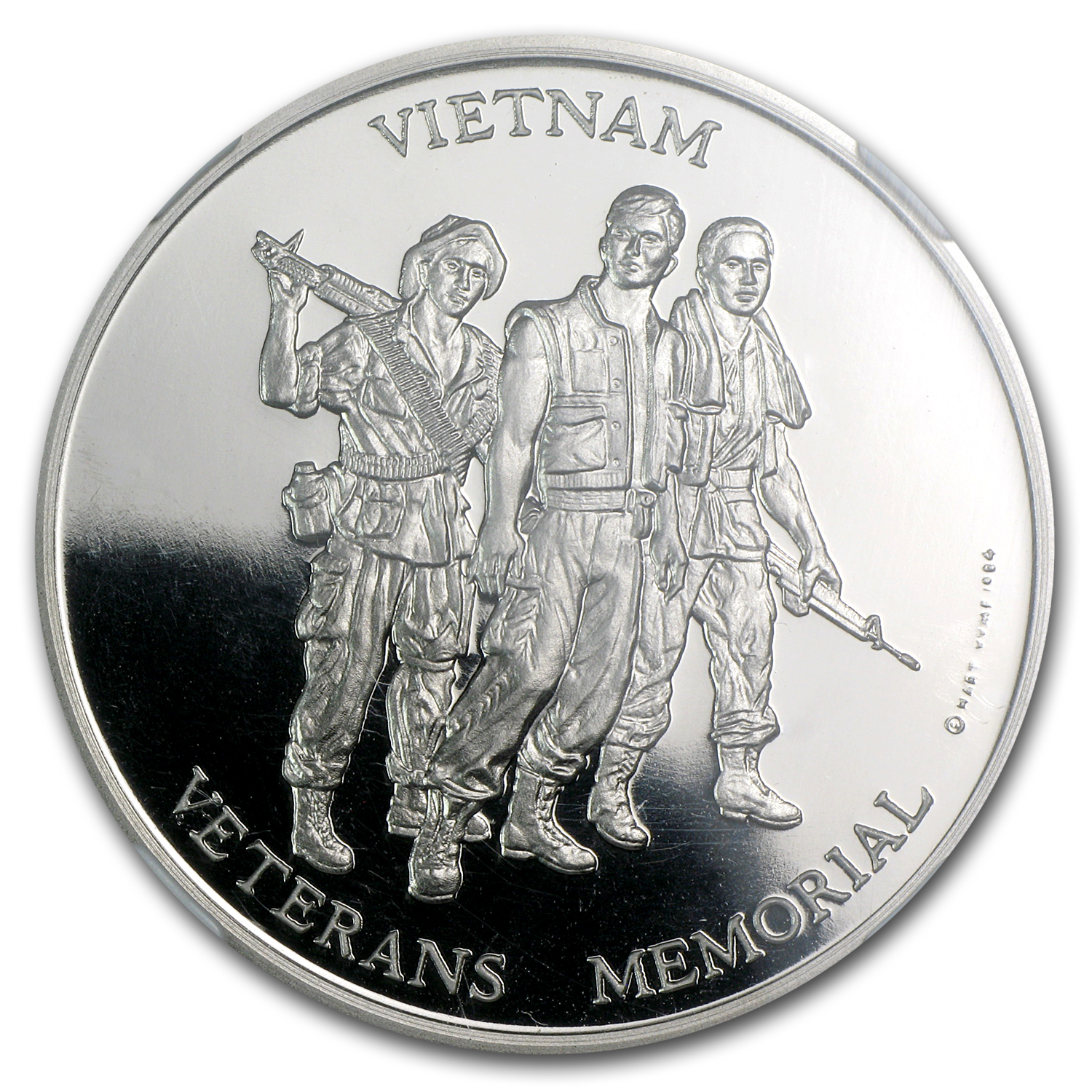1984 1 oz Palladium Vietnam Veterans Memorial PF-68 NGC
