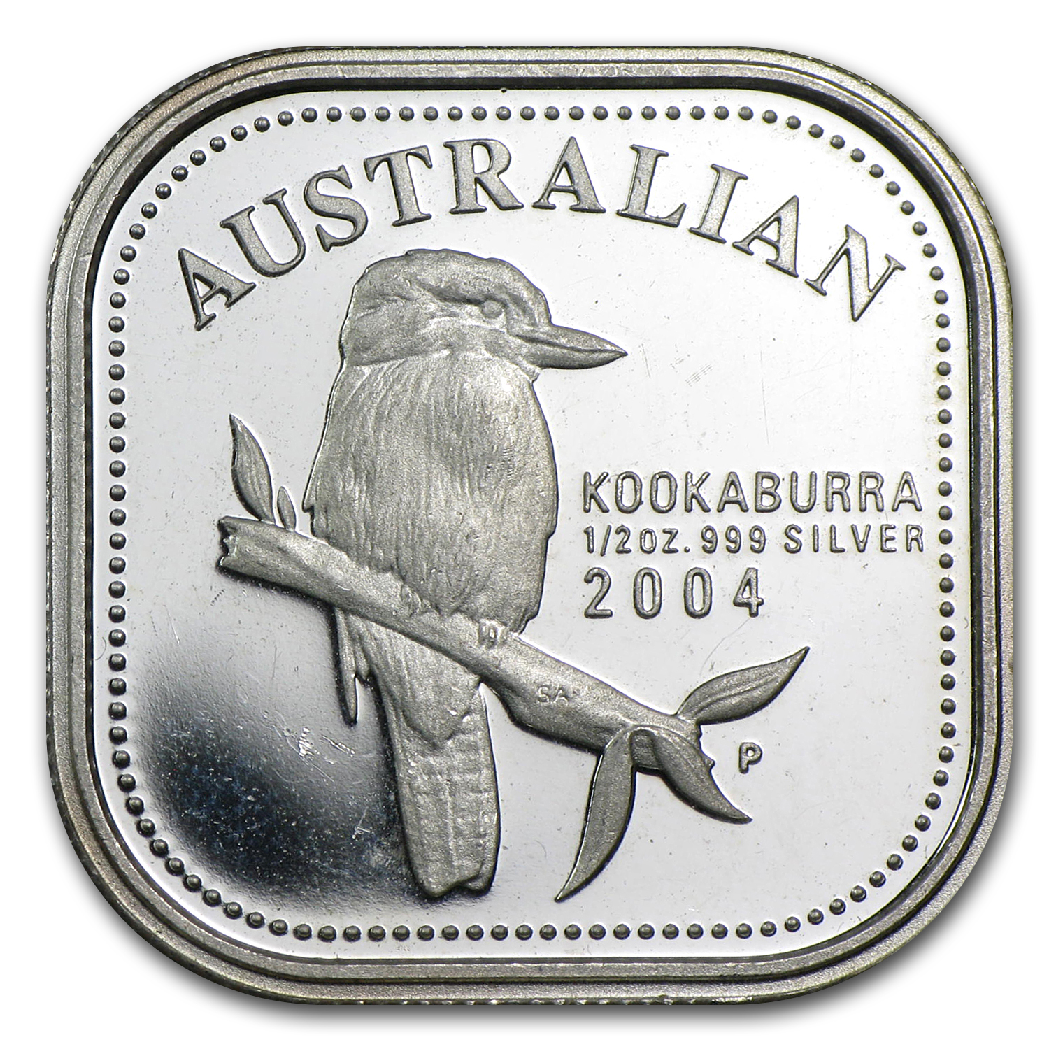 2004 1/2 oz Silver Australian Kookaburra Proof (Light abrasions)