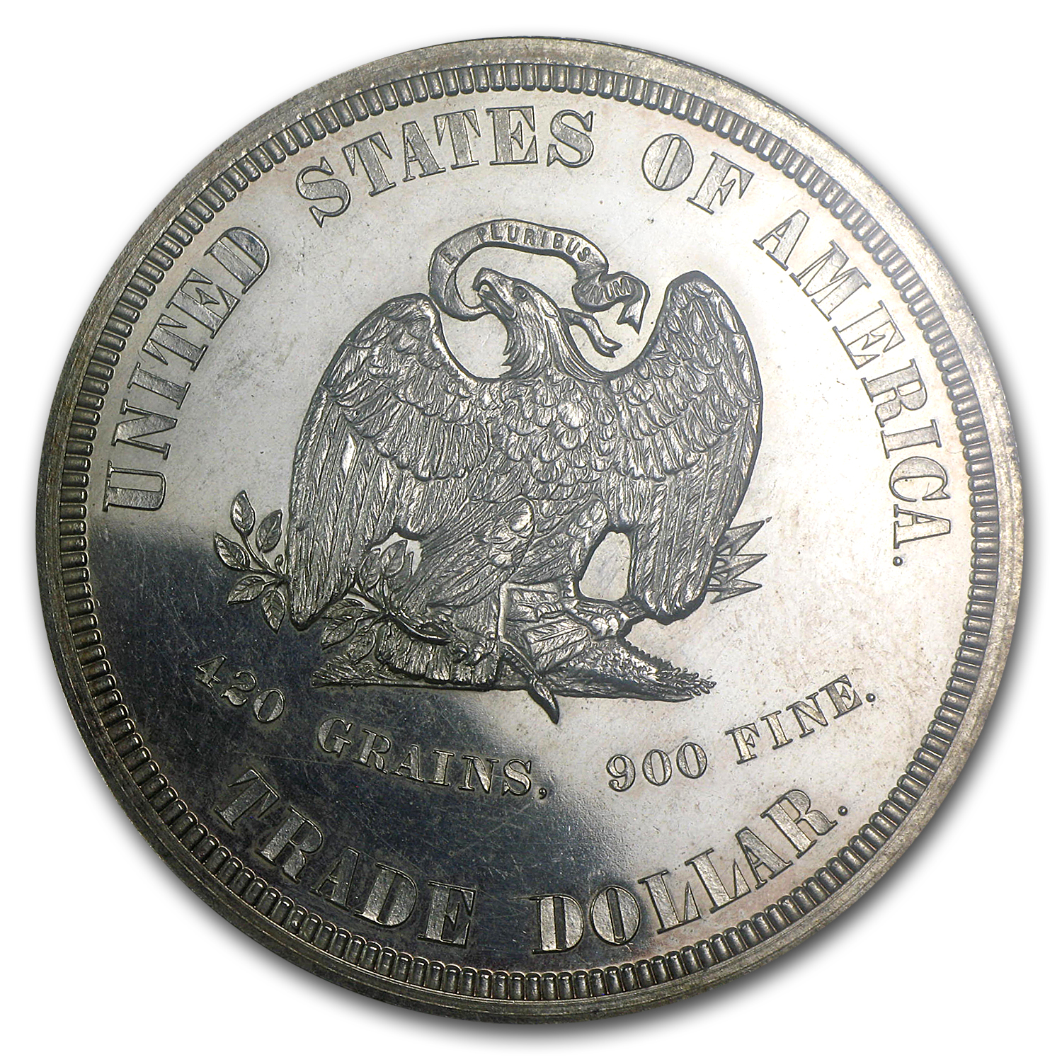 1873 Pattern Trade Dollar PF-60 ANACS (Scratched, Judd-1322, R-4)
