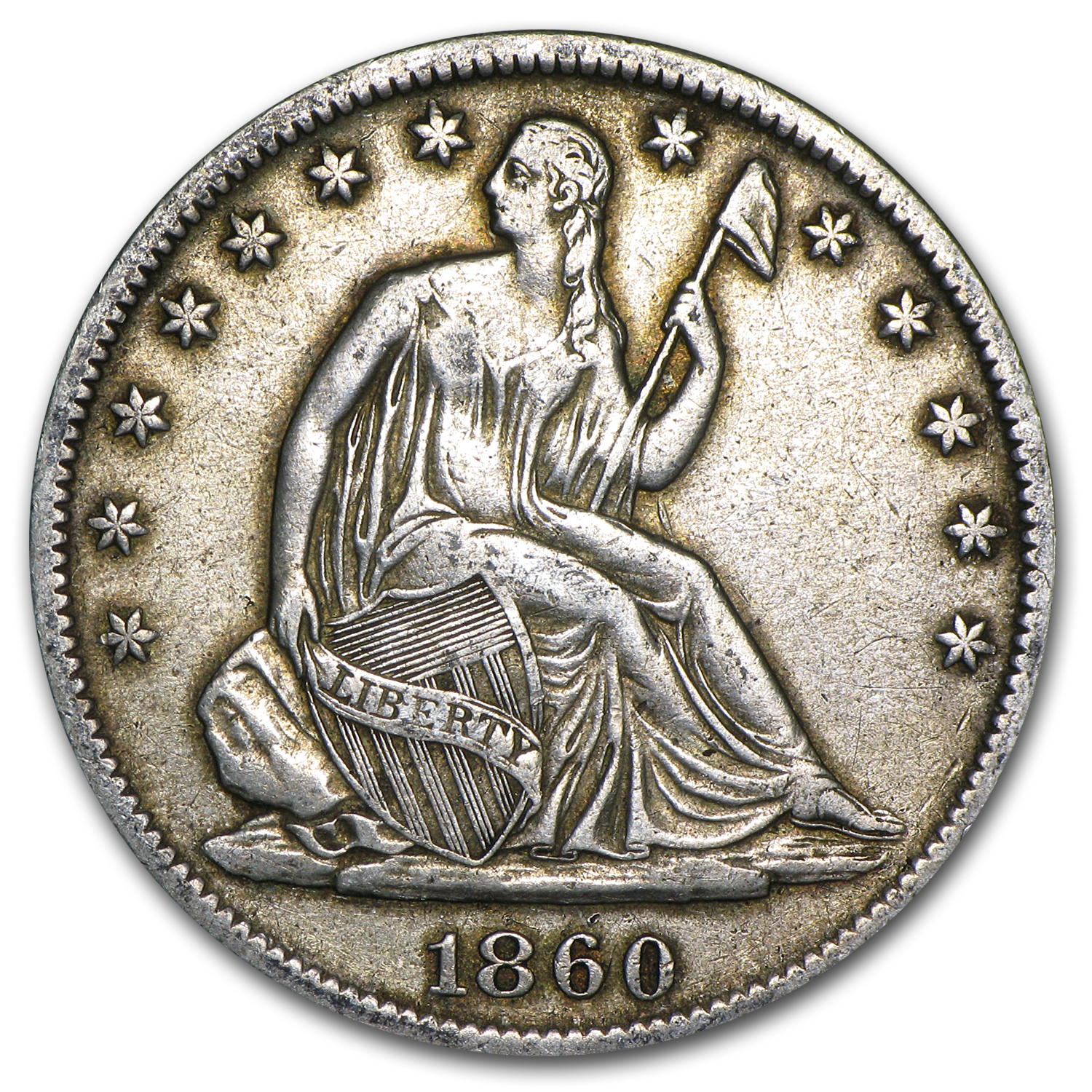 1860-S Liberty Seated Half Dollar XF Details