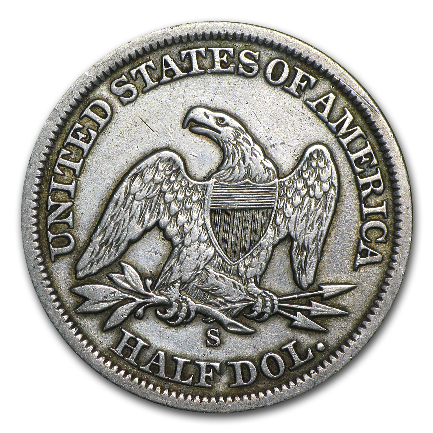 1860-S Extra Fine Liberty Seated Half Dollar - Details