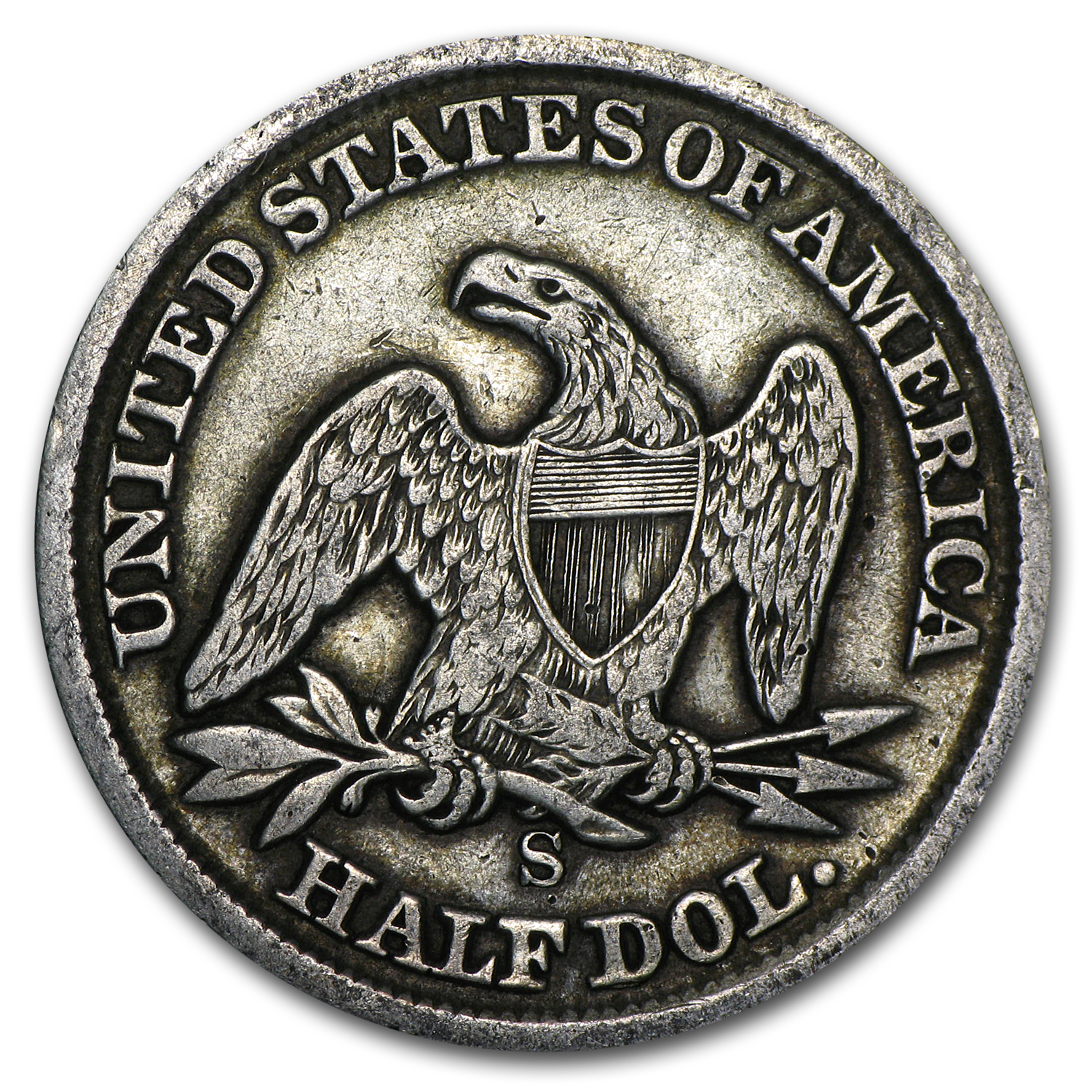1862-S Very Good Liberty Seated Half Dollar