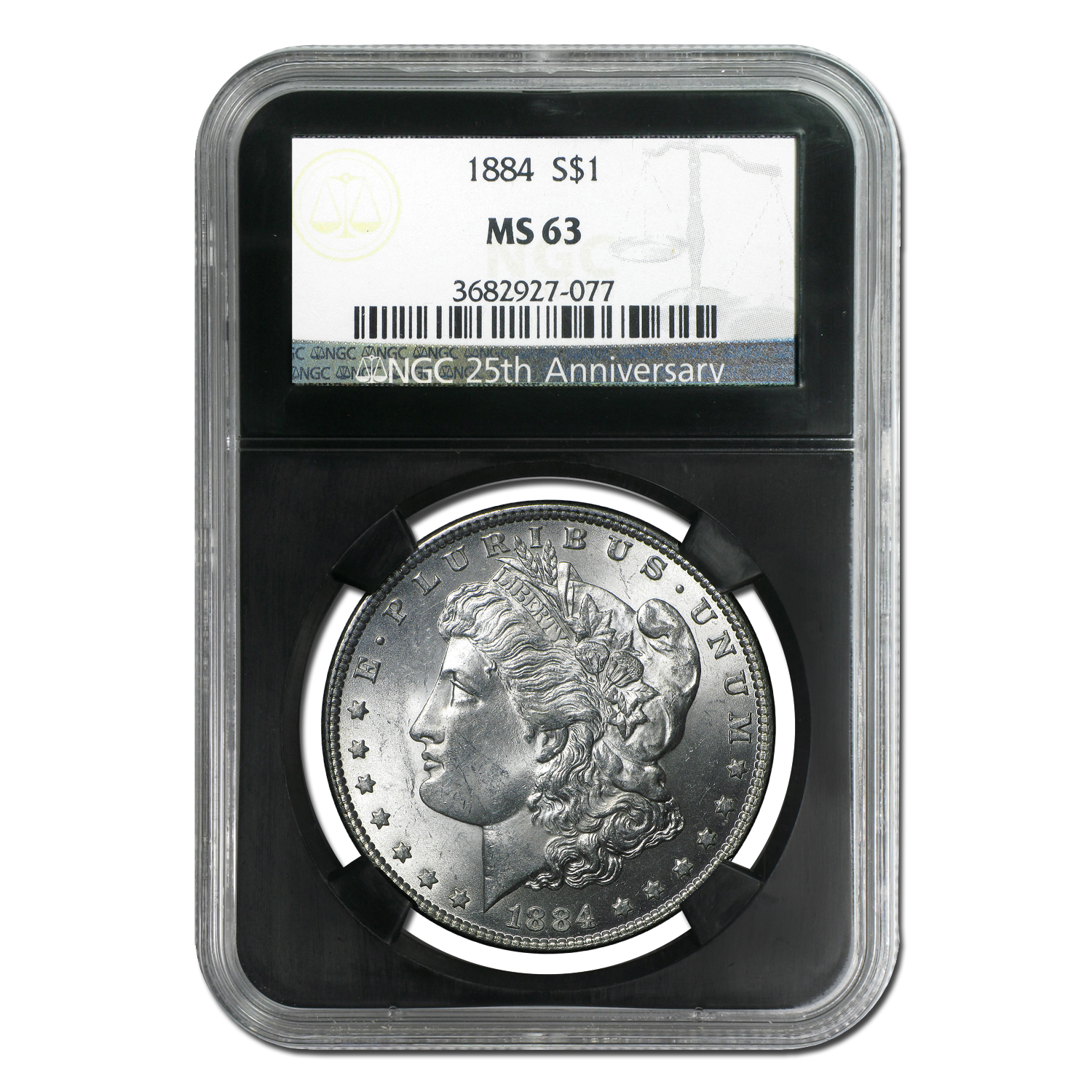 1878-1904 20-Different MS-63 NGC (Black Holder, 25th Ann)