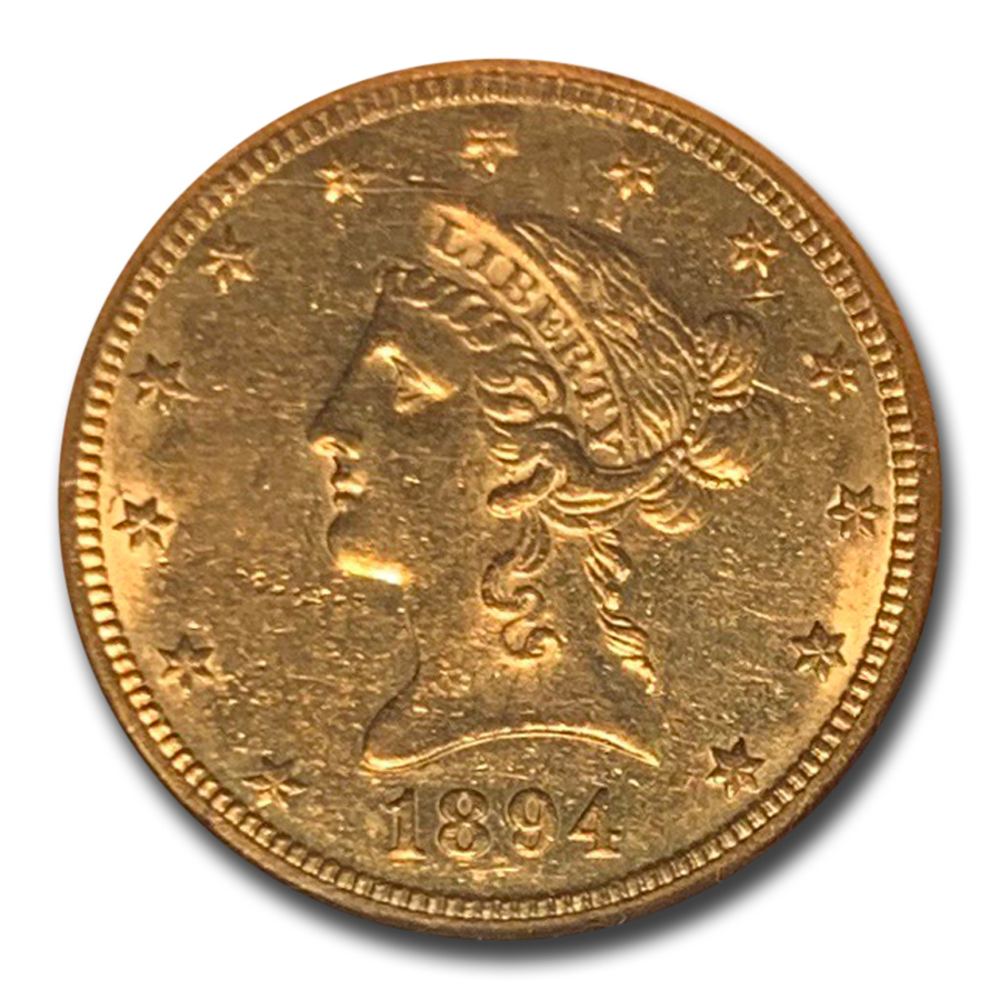 1894-O $10 Liberty Gold Eagle AU-58 NGC