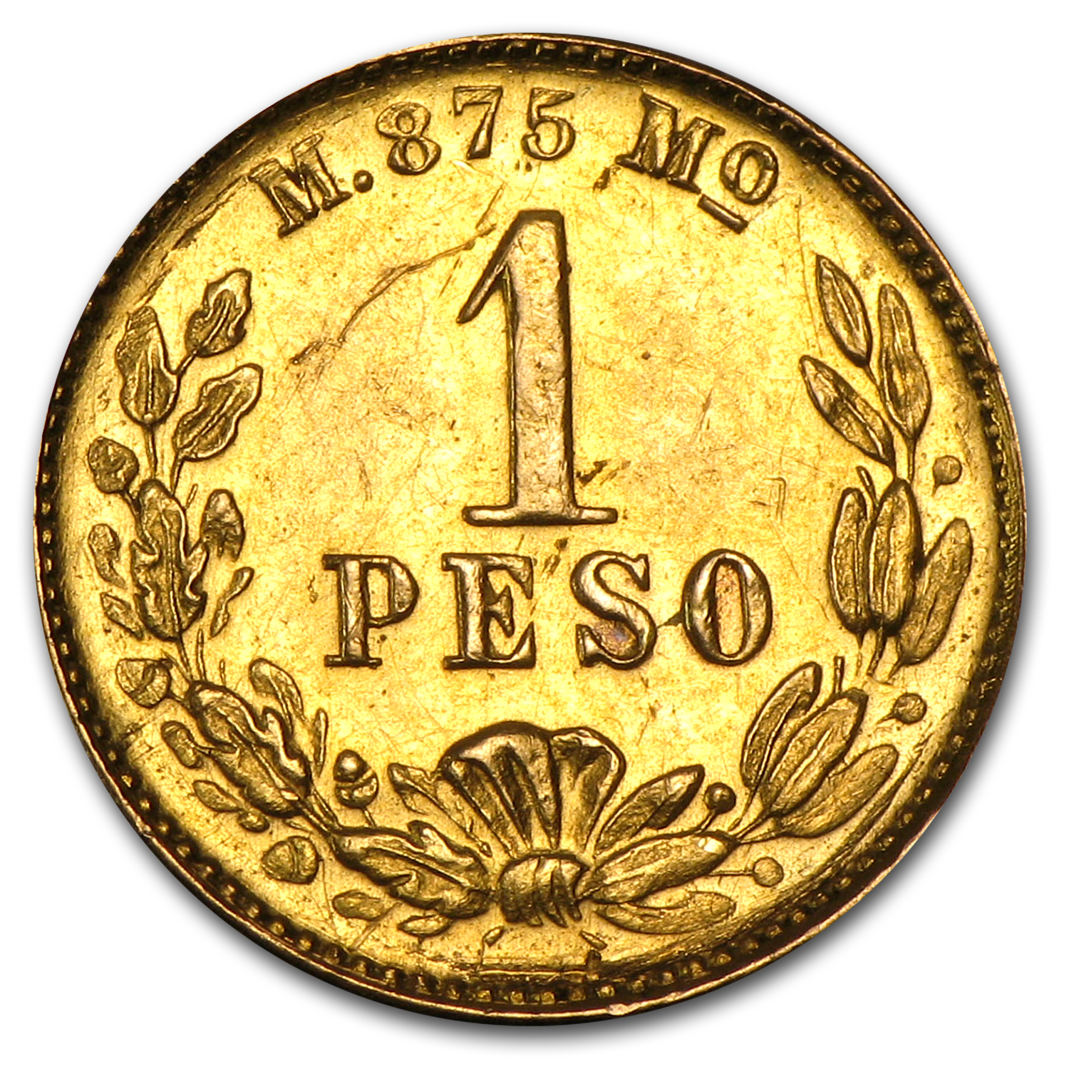 1898/7-Mo M Mexican Gold Peso (Almost Uncirculated)