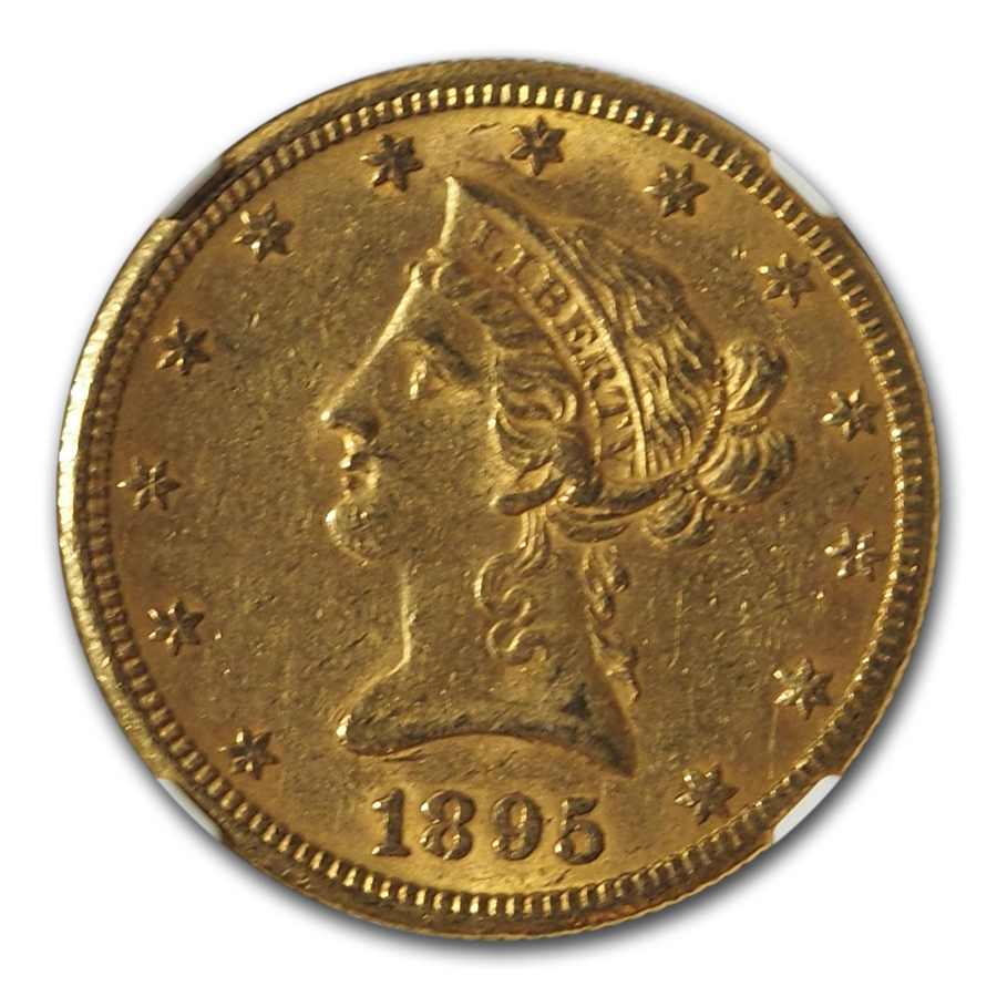 1895-O $10 Liberty Gold Eagle - AU-55 NGC