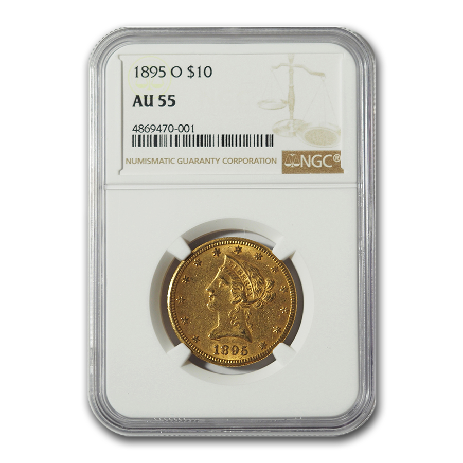 1895-O $10 Liberty Gold Eagle AU-55 NGC