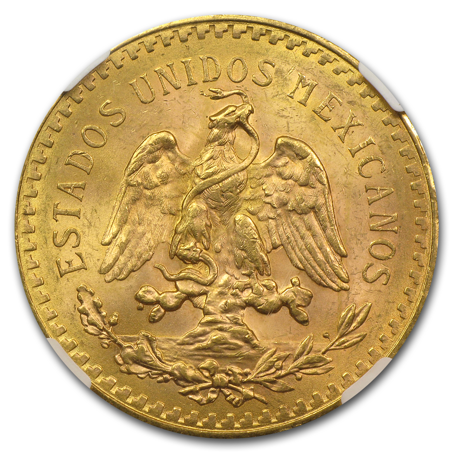 1923 Mexico Gold 50 Pesos MS-63 NGC