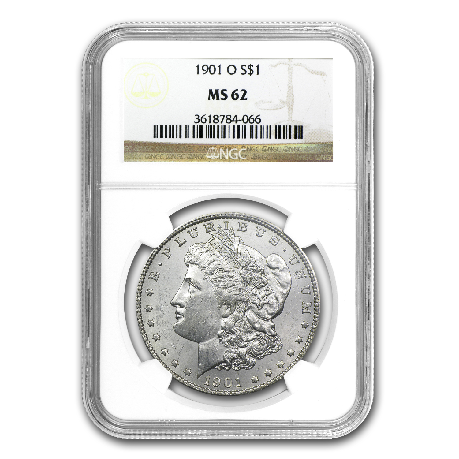1878-1904 20-Different Morgan Dollars MS-62 NGC