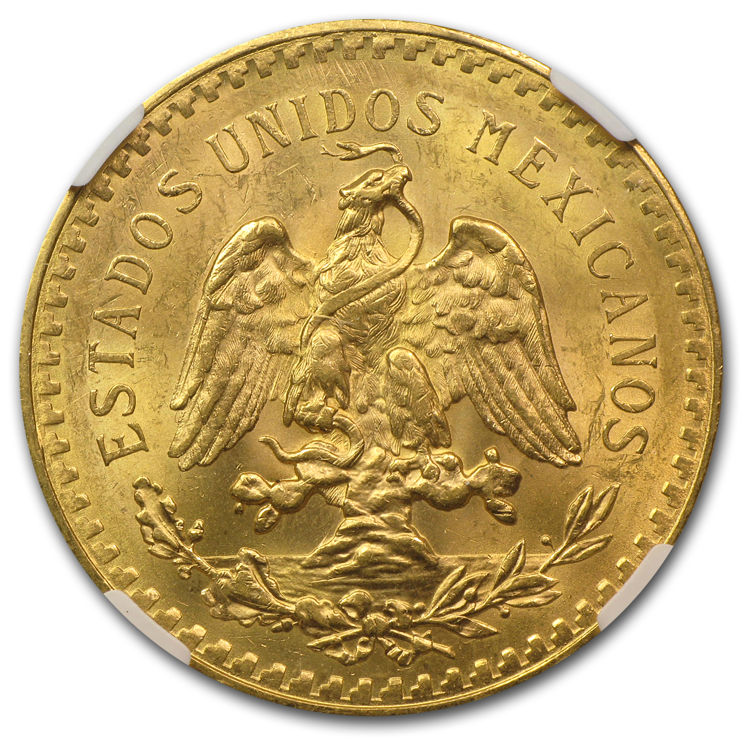 1926 Mexico Gold 50 Pesos MS-63 NGC