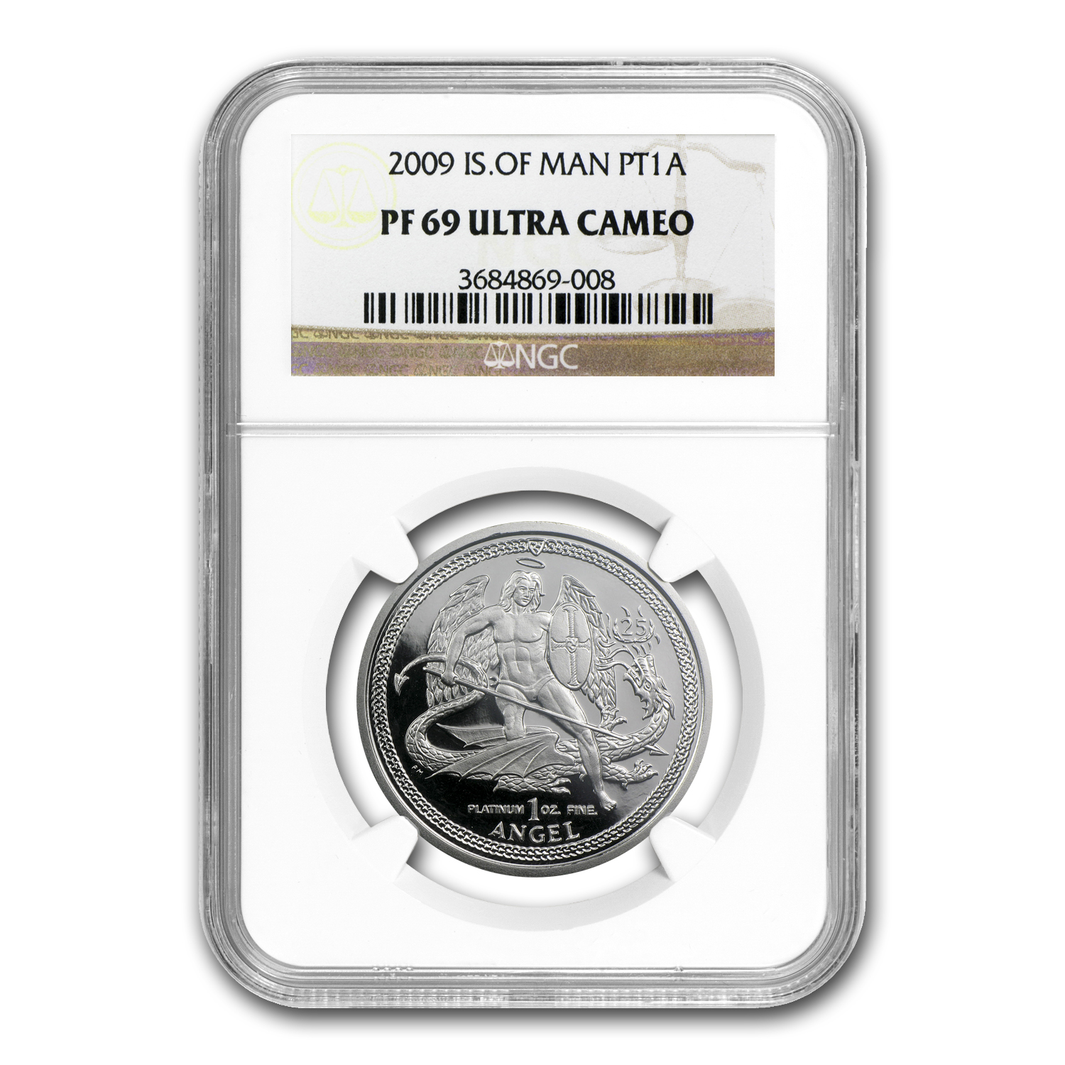 2009 1 oz Isle of Man Platinum Angel (PF-69 UCAM NGC)
