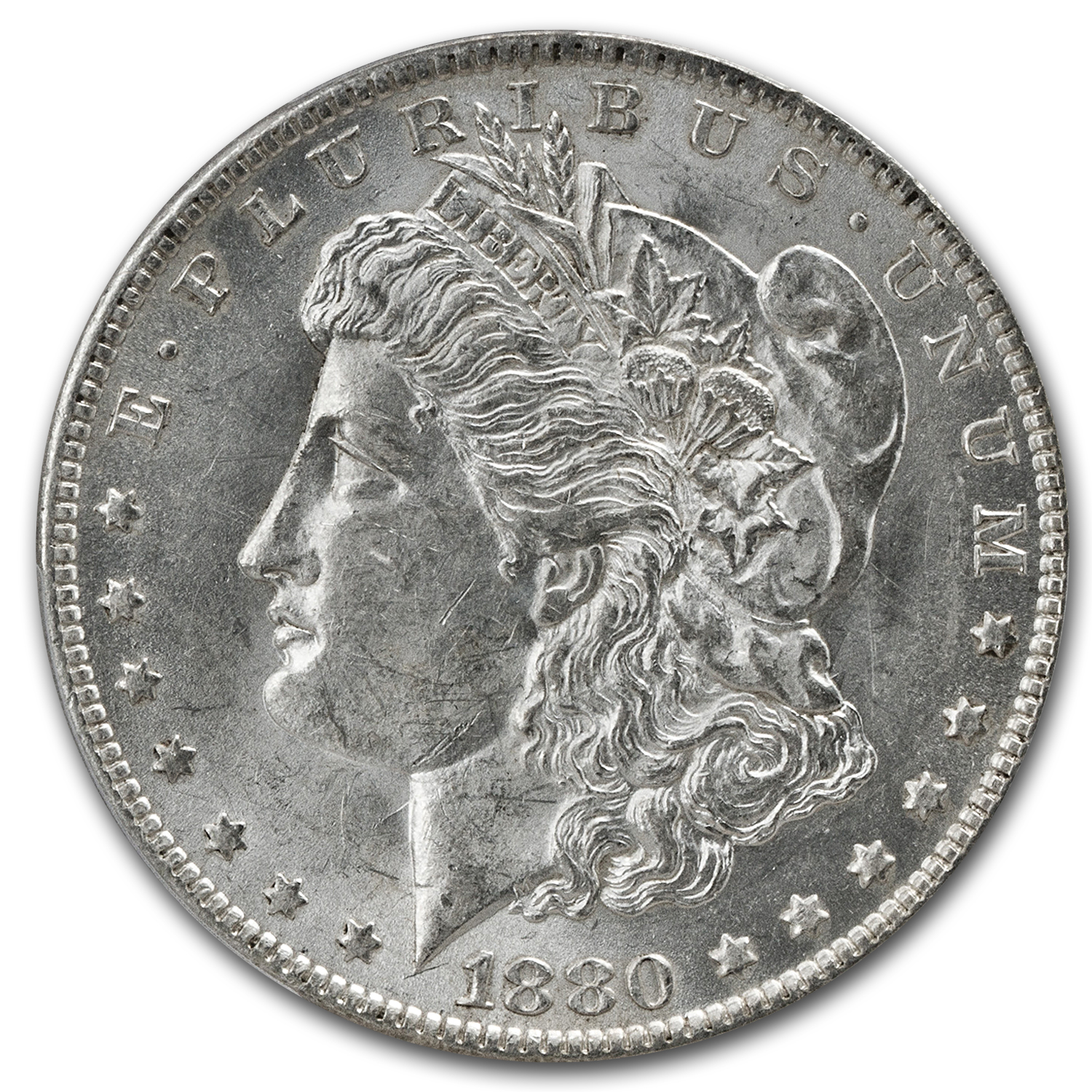 1880-O Morgan Dollar Almost Uncirculated-58 PCGS