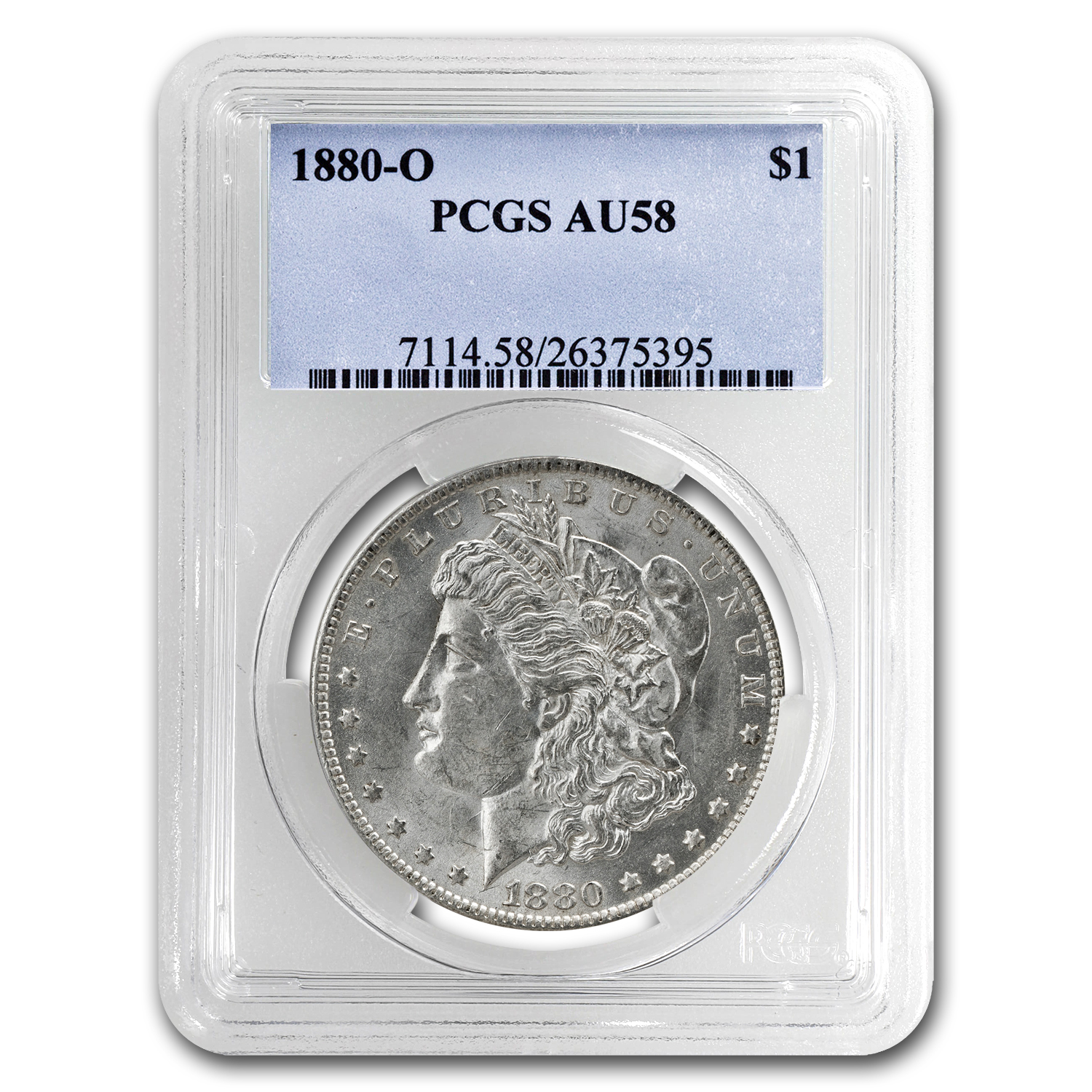 1880-O Morgan Dollar AU-58 PCGS