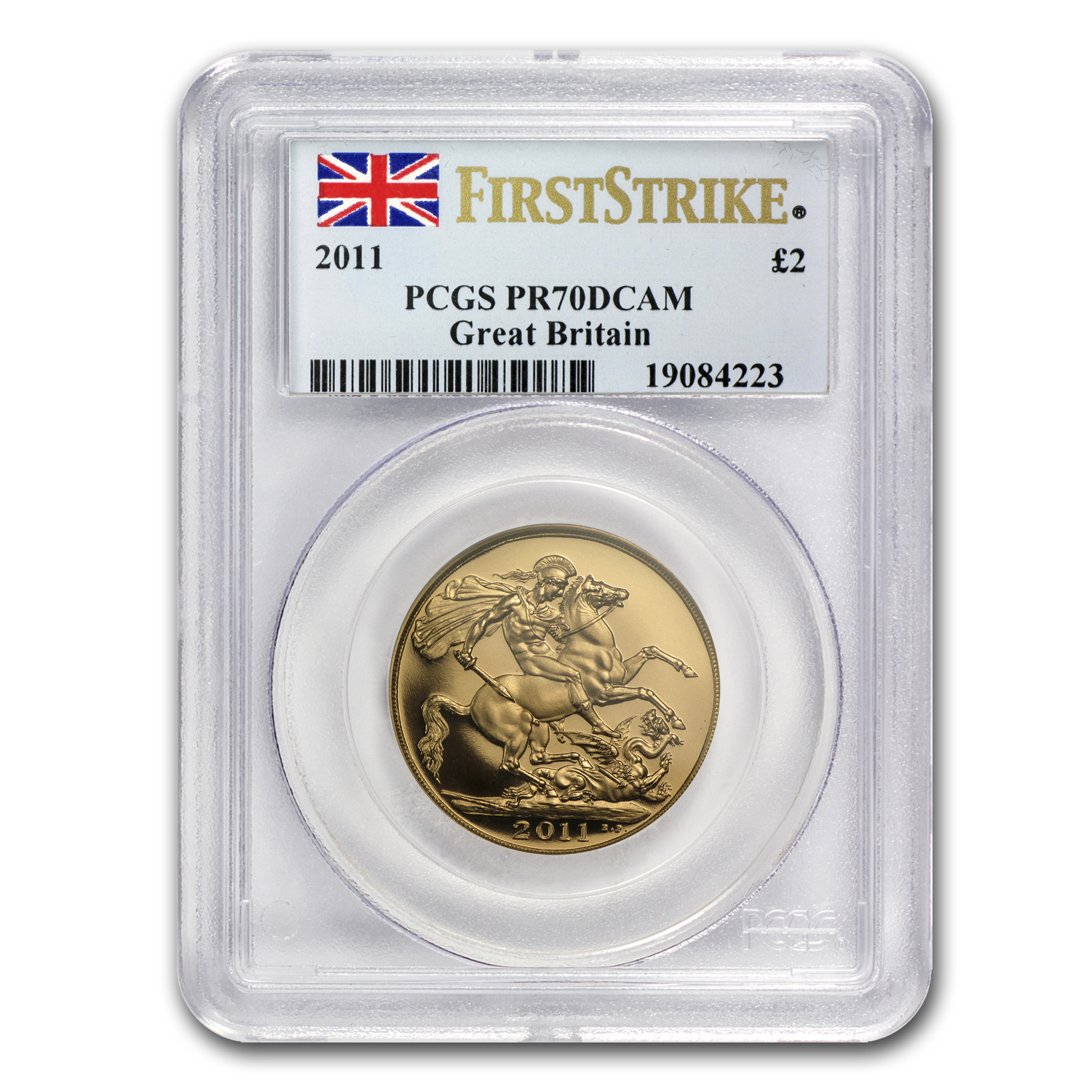 2011 Great Britain Gold £2 PR-70 PCGS (1st Strike)