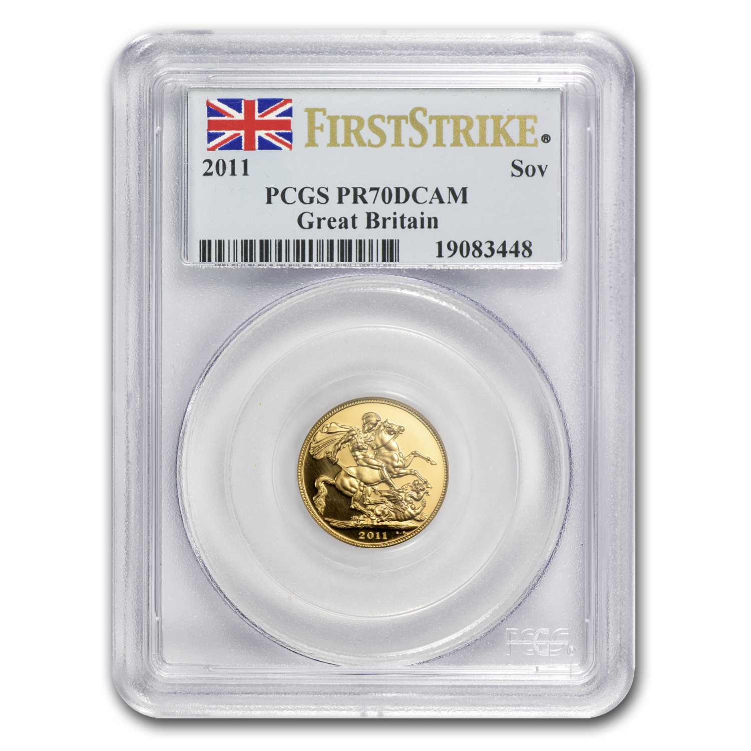 2011 Great Britain Gold Sovereign PR-70 PCGS (1st Strike)