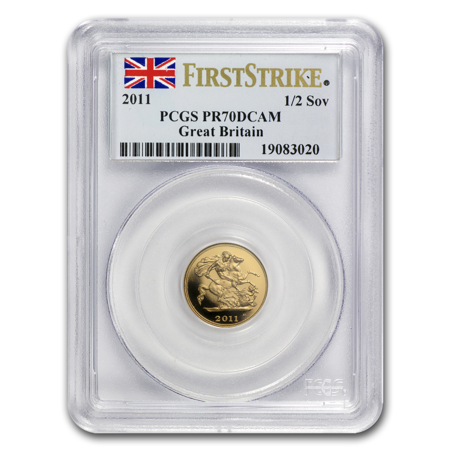 Great Britain 2011 Gold 1/2 Sovereign PR-70 DCAM 1st Strike PCGS