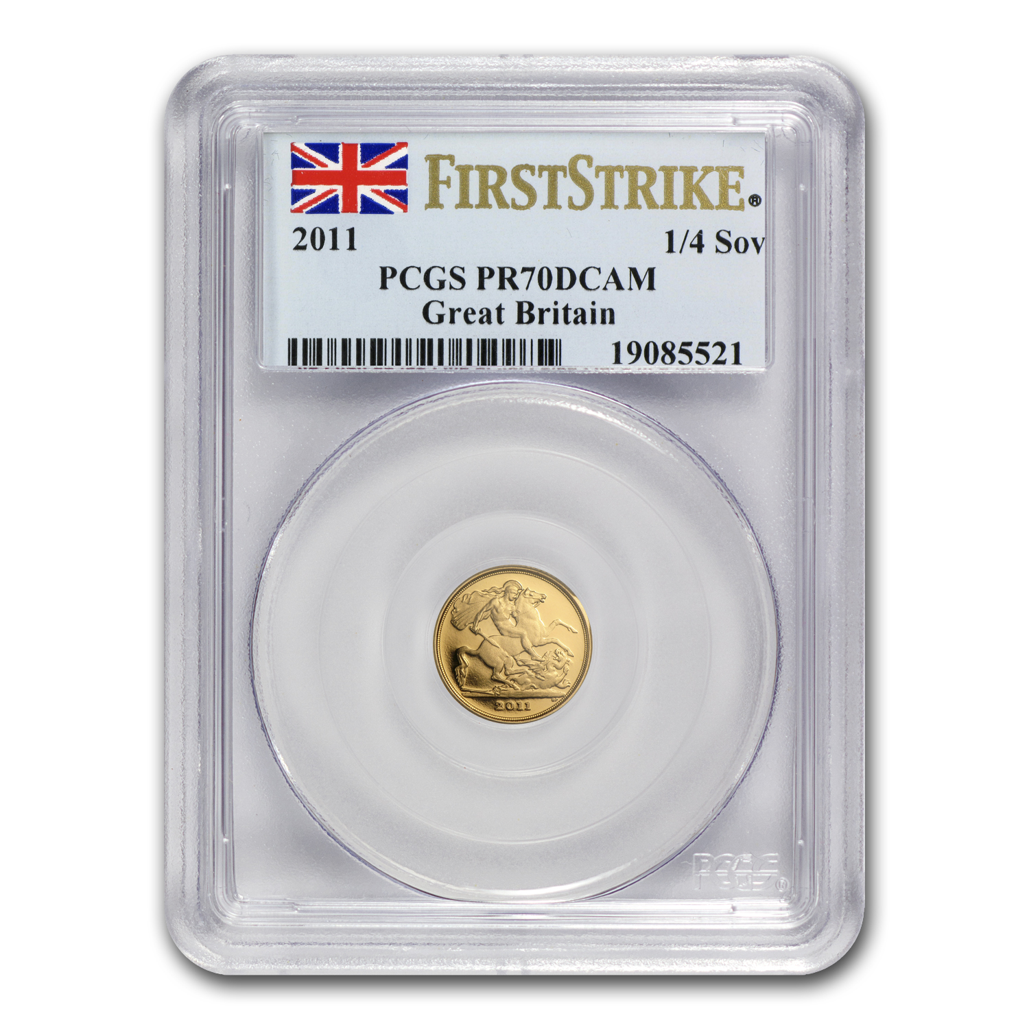 Great Britain 2011 Gold 1/4 Sovereign PR-70 DCAM 1st Strike PCGS