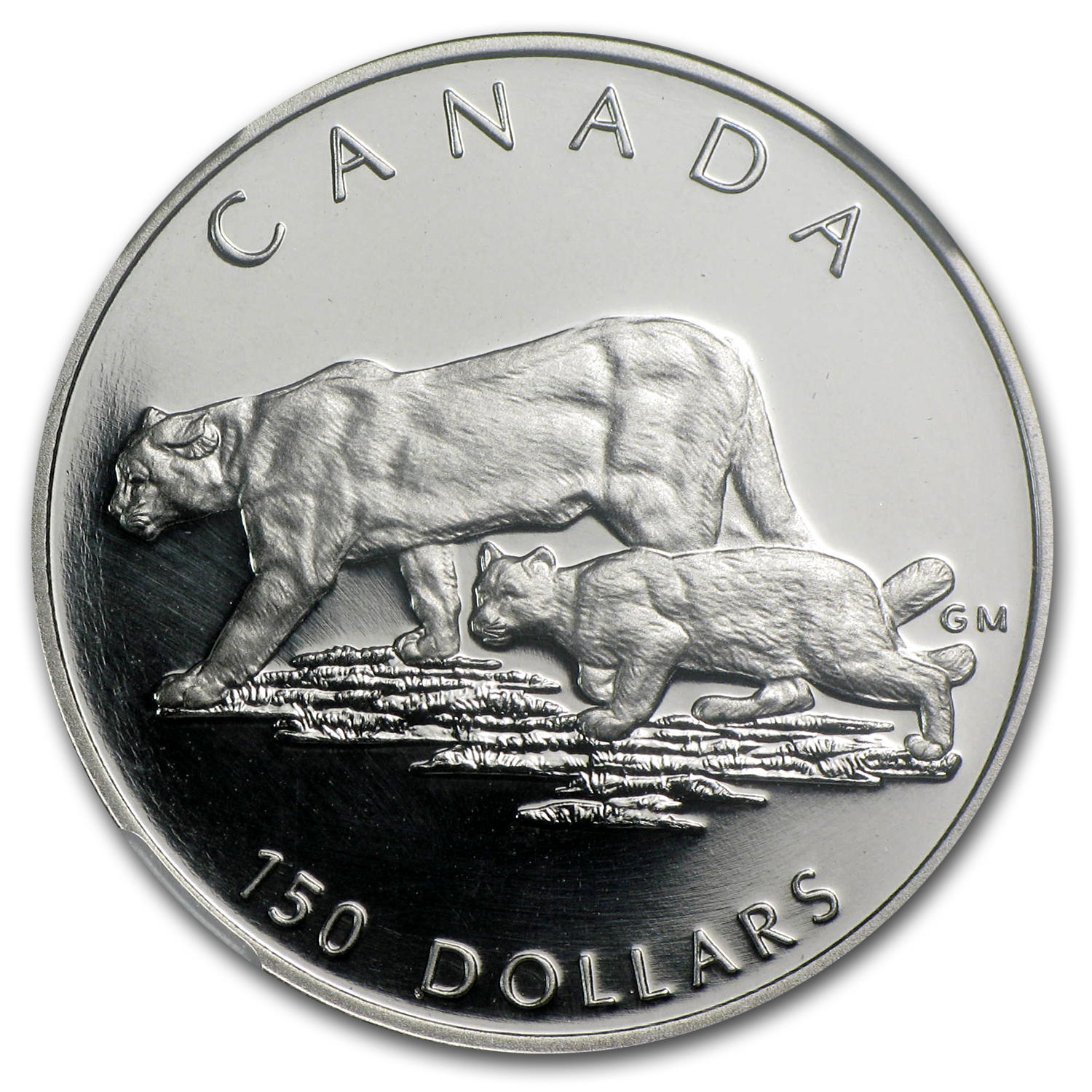 1992 1/2 oz Proof Platinum Canadian Cougar PF-70 NGC