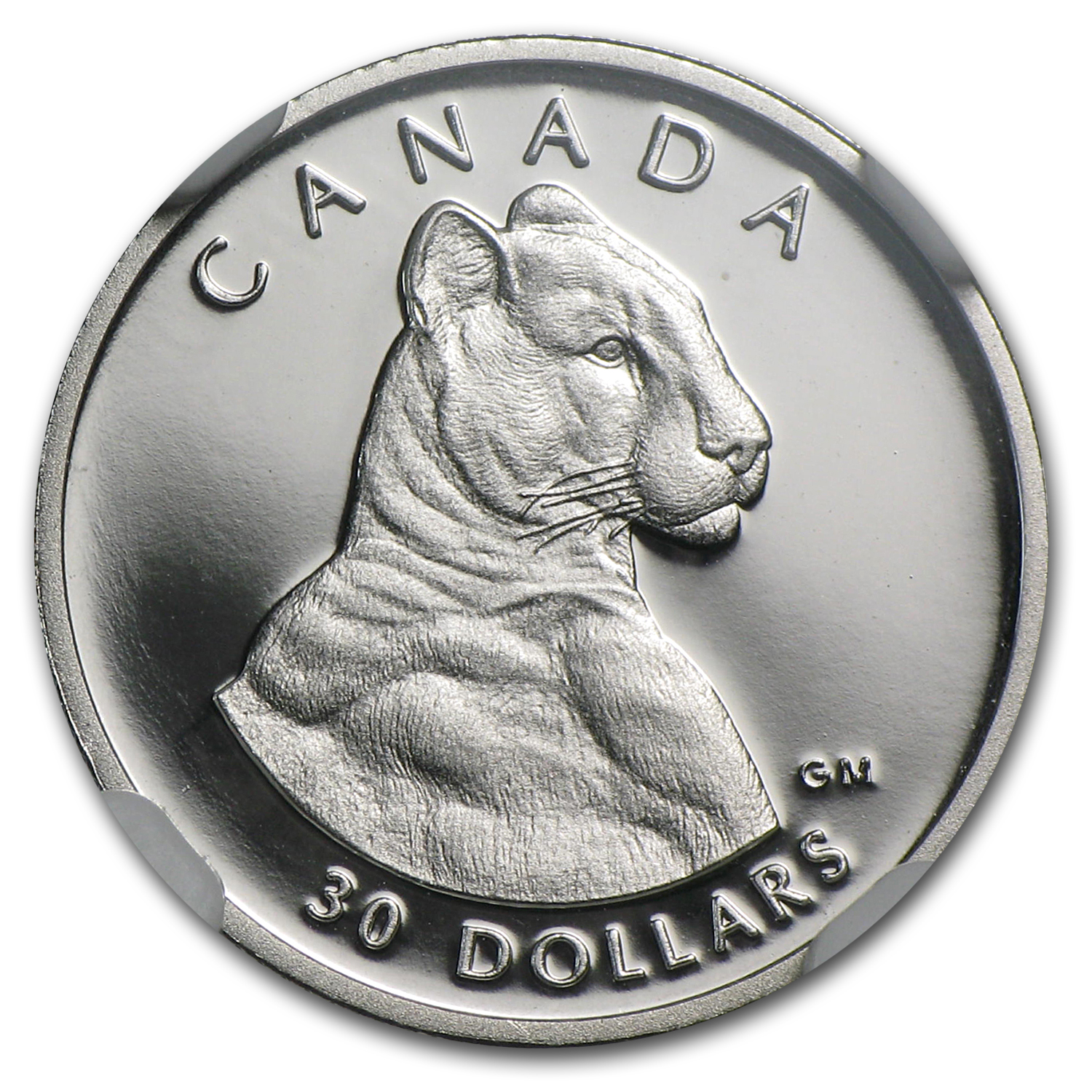 1992 1/10 oz Proof Platinum Canadian Cougar PF-69 NGC