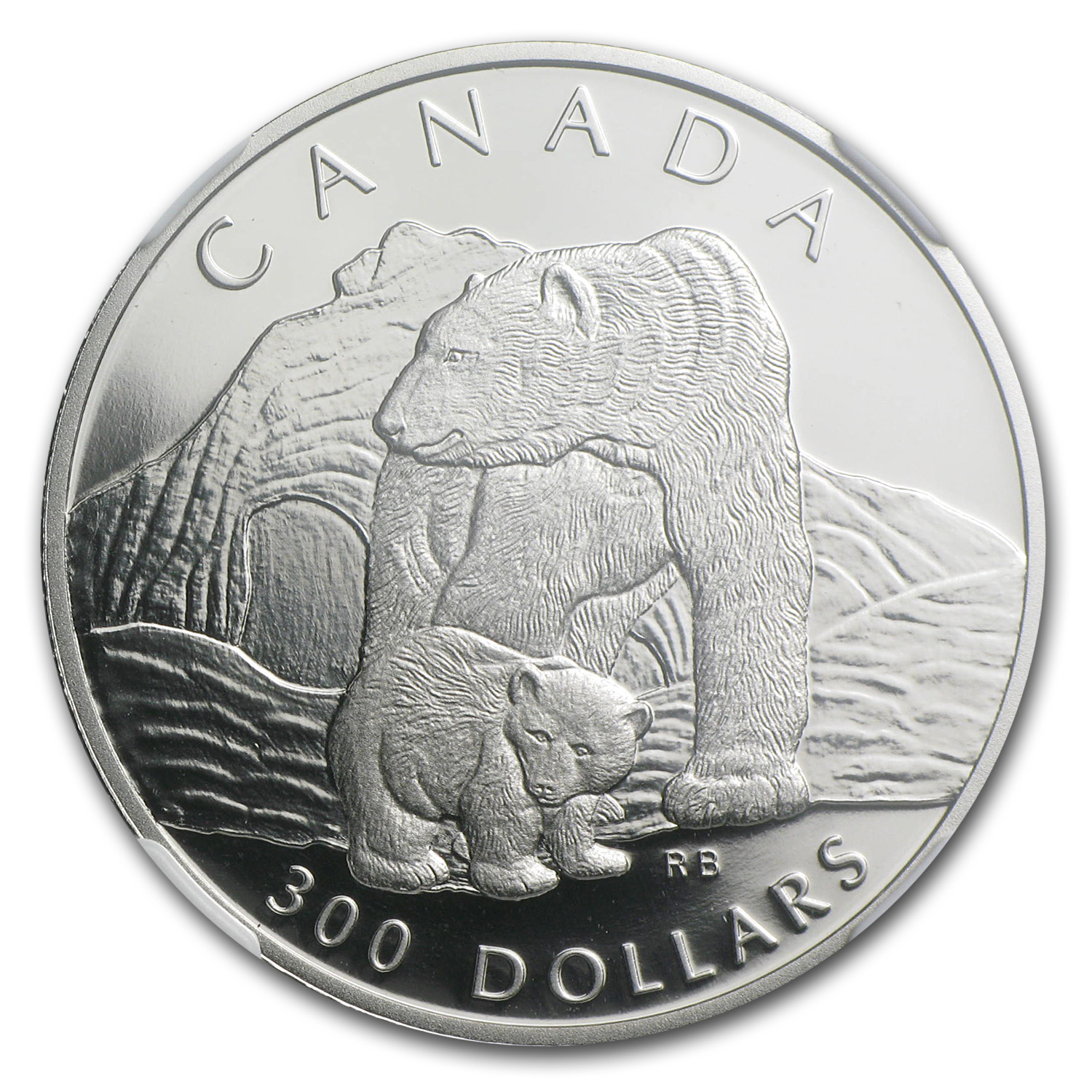 1990 1 oz Proof Platinum Canadian Polar Bear PF-69 NGC