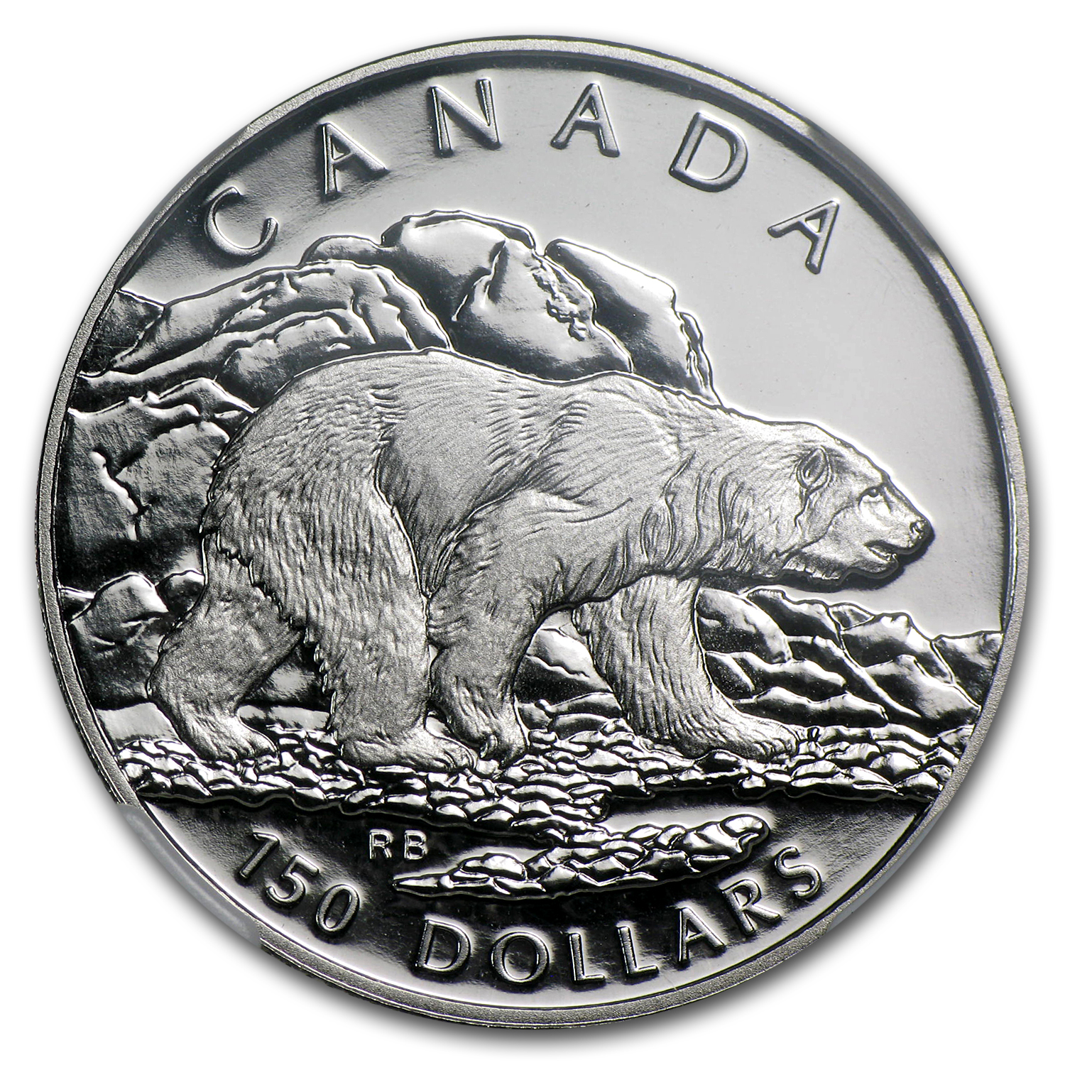 1990 1/2 oz Canadian Platinum Polar Bear (PF-70 UCAM NGC)