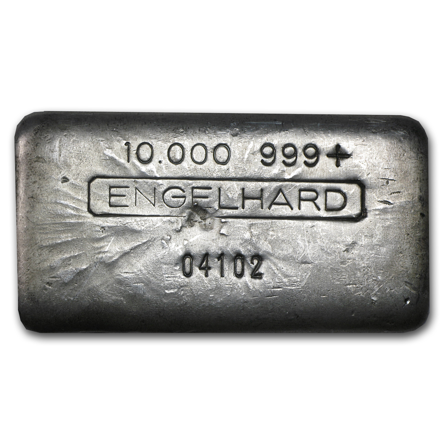 10 oz Silver Bar - Engelhard (Vintage, Wide, Poured)