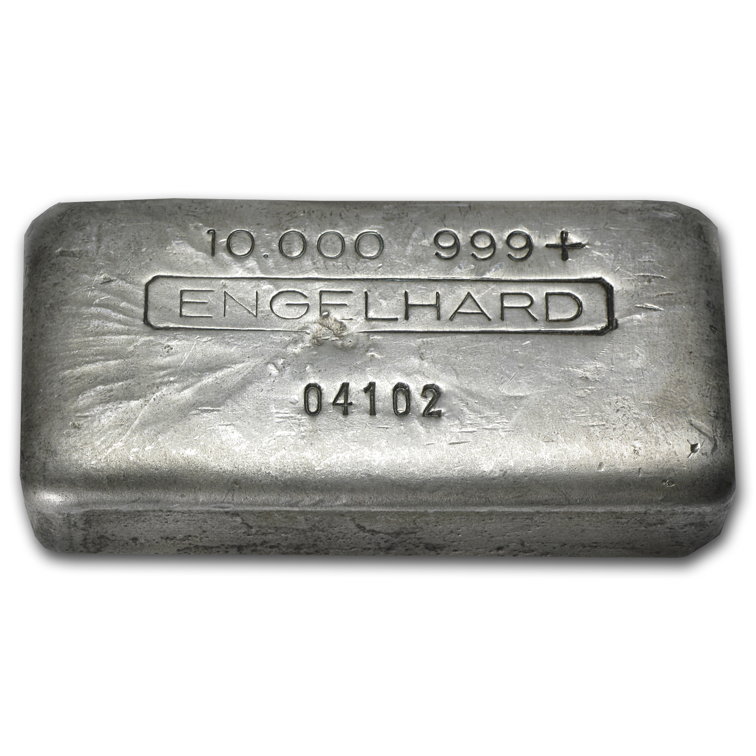 10 oz Silver Bars - Engelhard (Wide/Poured/Vintage)