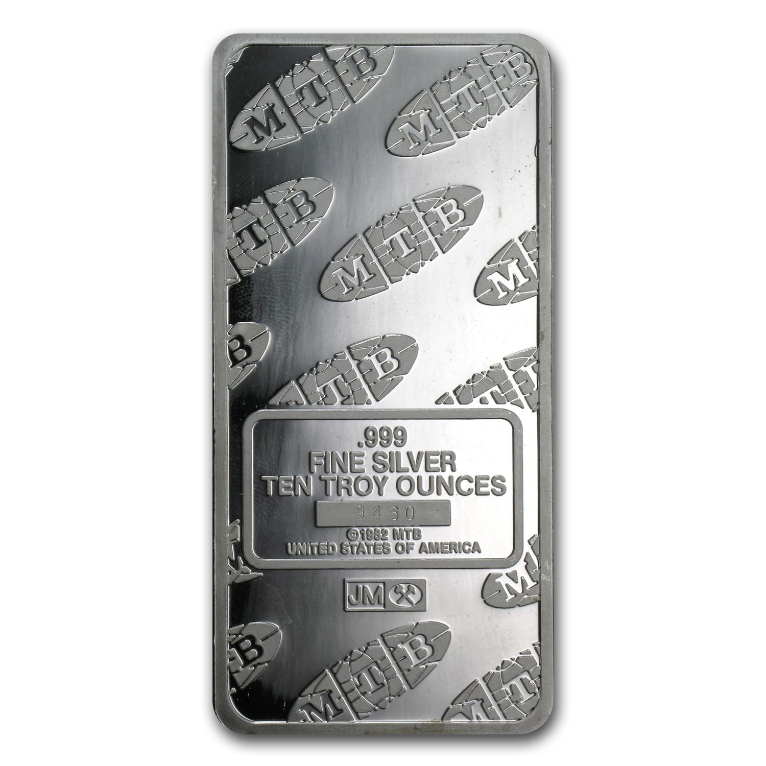 10 oz Silver Bars - Johnson Matthey (Statue of Liberty/MTB)