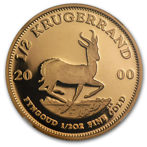 2000 South Africa 1/2 oz Gold Krugerrand PF-70 NGC