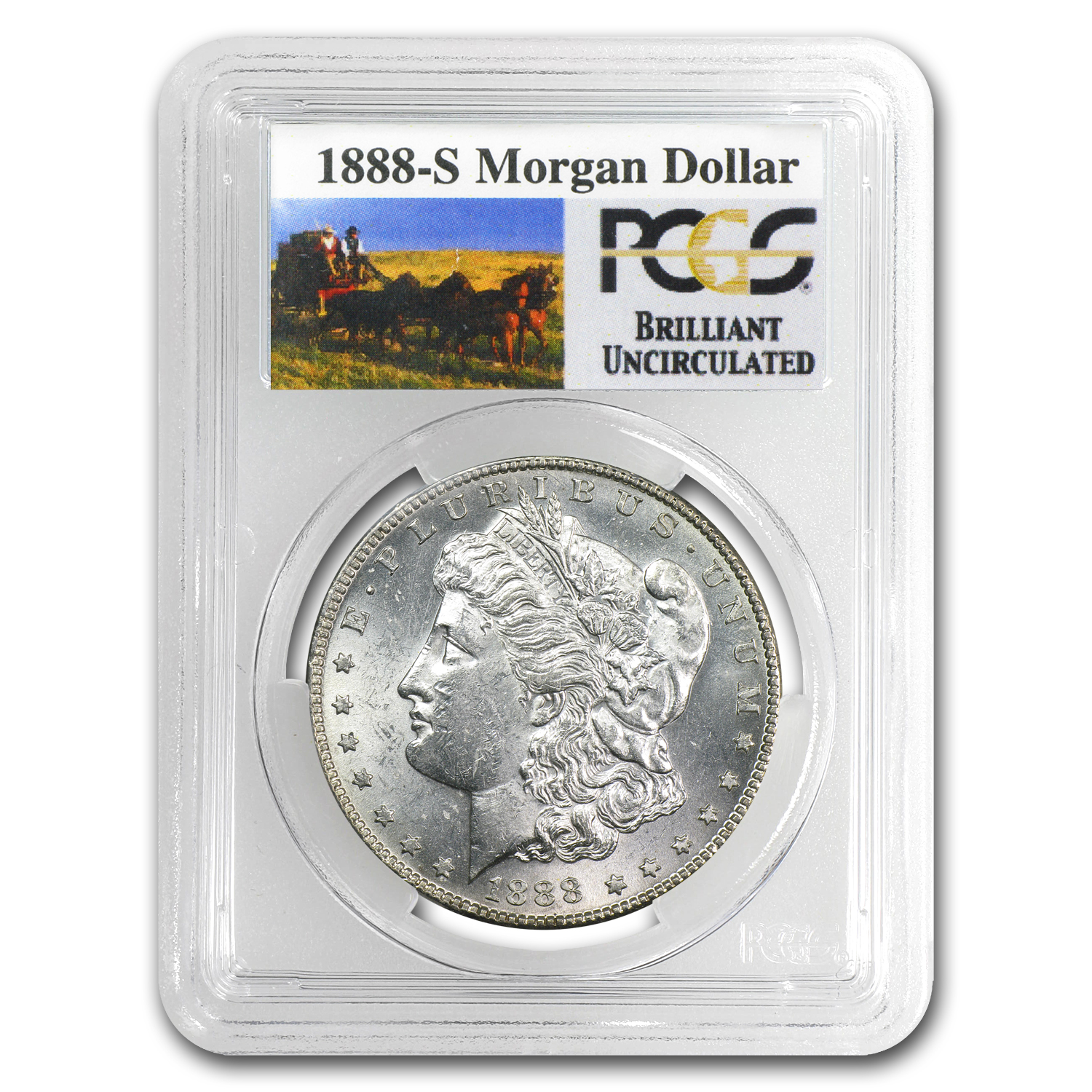 1888-S Brilliant Uncirculated PCGS Stage Coach Silver Dollars