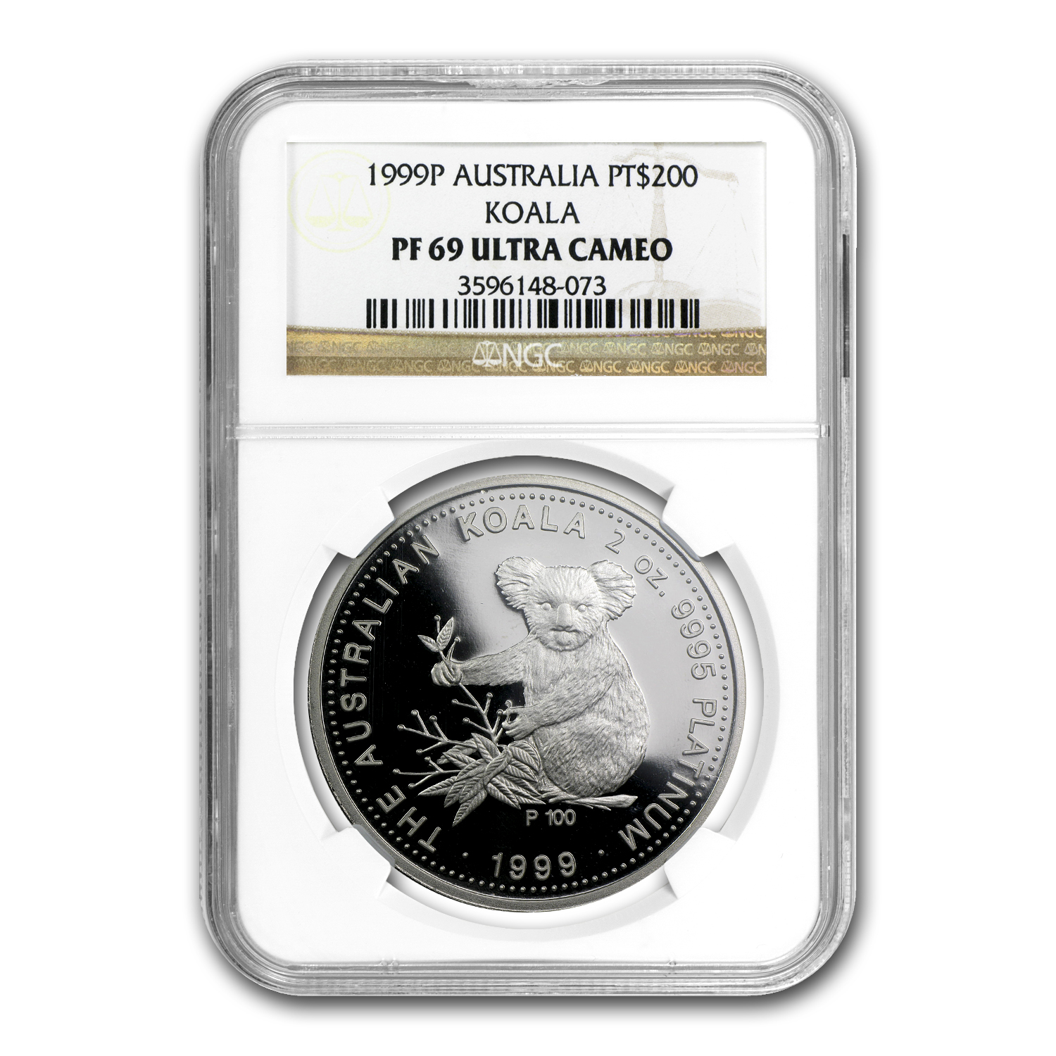 1999 Australia 2 oz Proof Platinum Koala PF-69 NGC