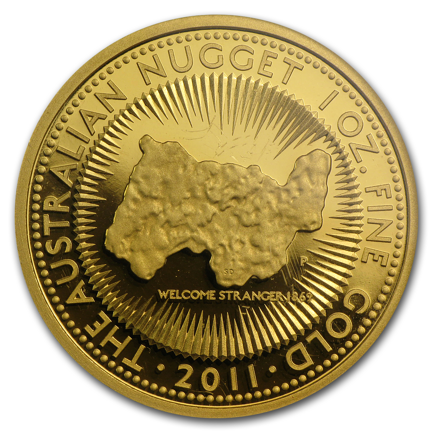 2011 1oz Australian Proof Gold Nugget 25th Anniv. PCGS PR-69 (FS)