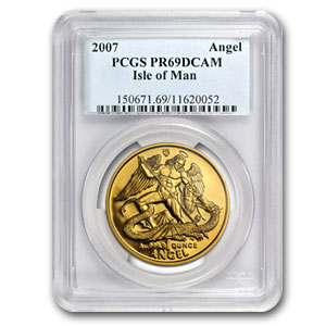 Isle of Man 1 oz Gold Angel PR-69 NGC/PCGS (Random Year)