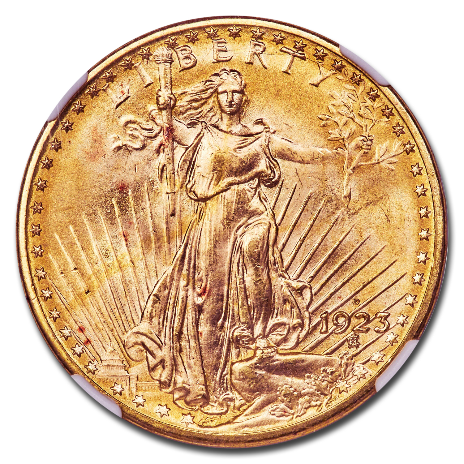1923-D $20 St. Gaudens Gold Double Eagle MS-67 NGC