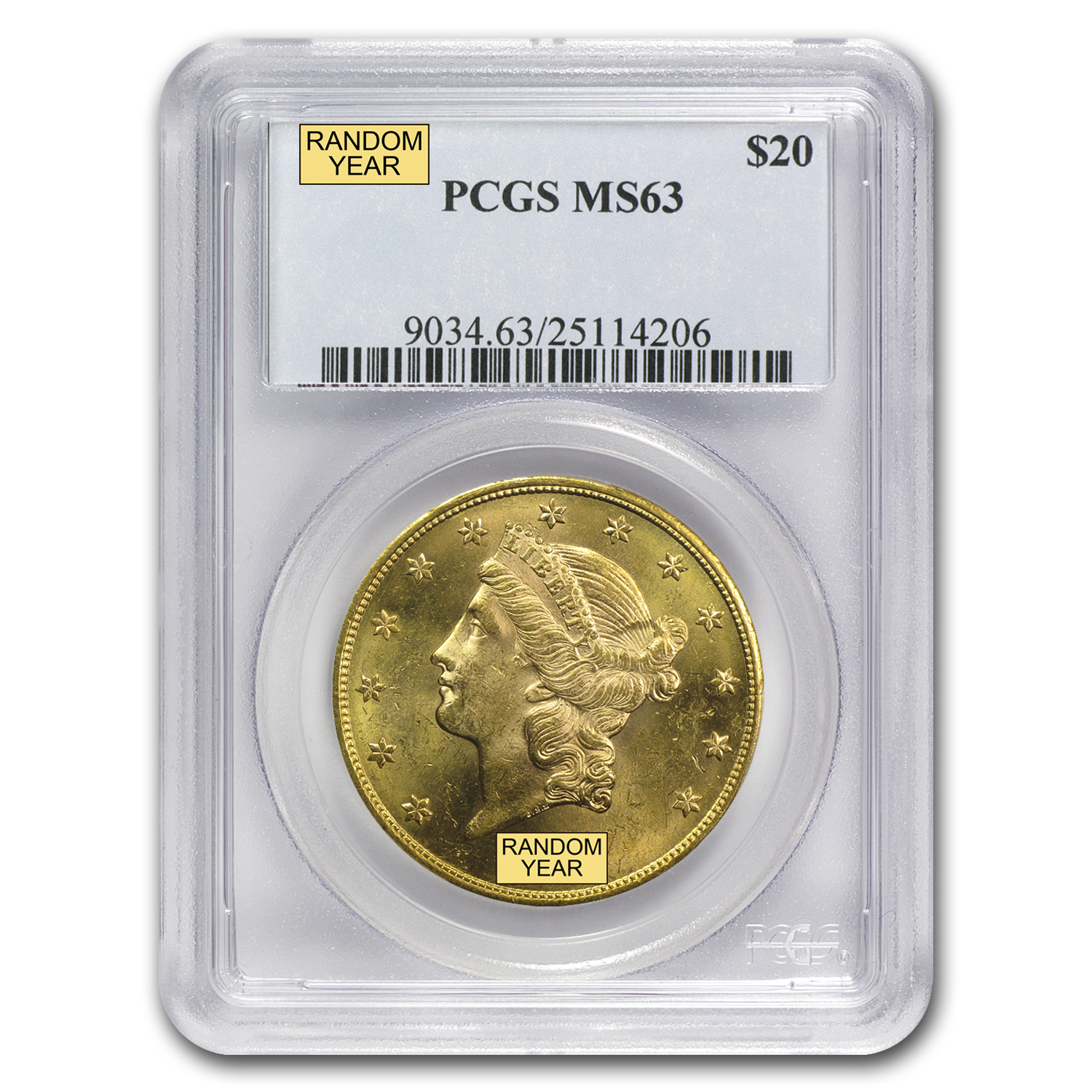 $20 Liberty Gold Double Eagle MS-63 PCGS (Pre-1900)