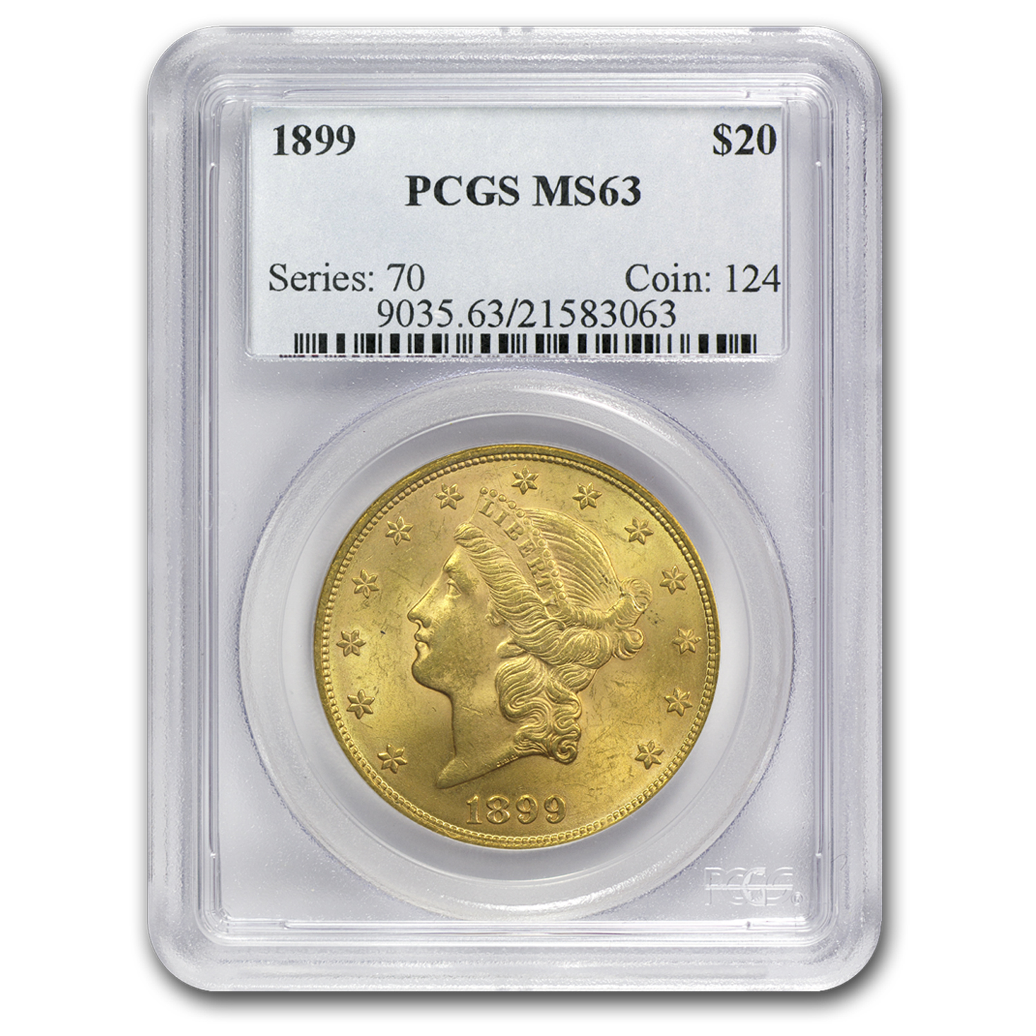 $20 Gold Liberty Double Eagle MS-63 PCGS (PRE 1900)