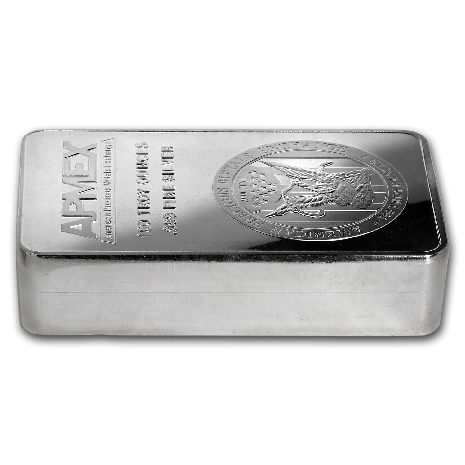 100 oz Silver Bars - APMEX (Struck)