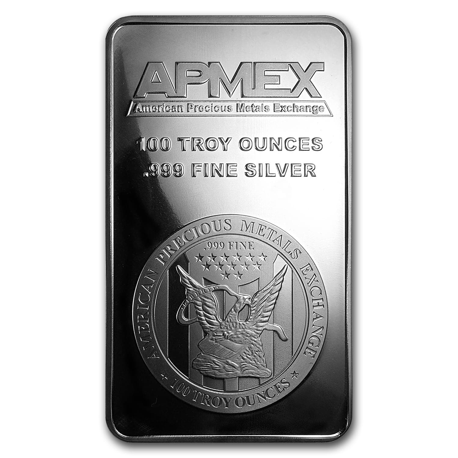 100 oz Silver Bar - APMEX (Struck)