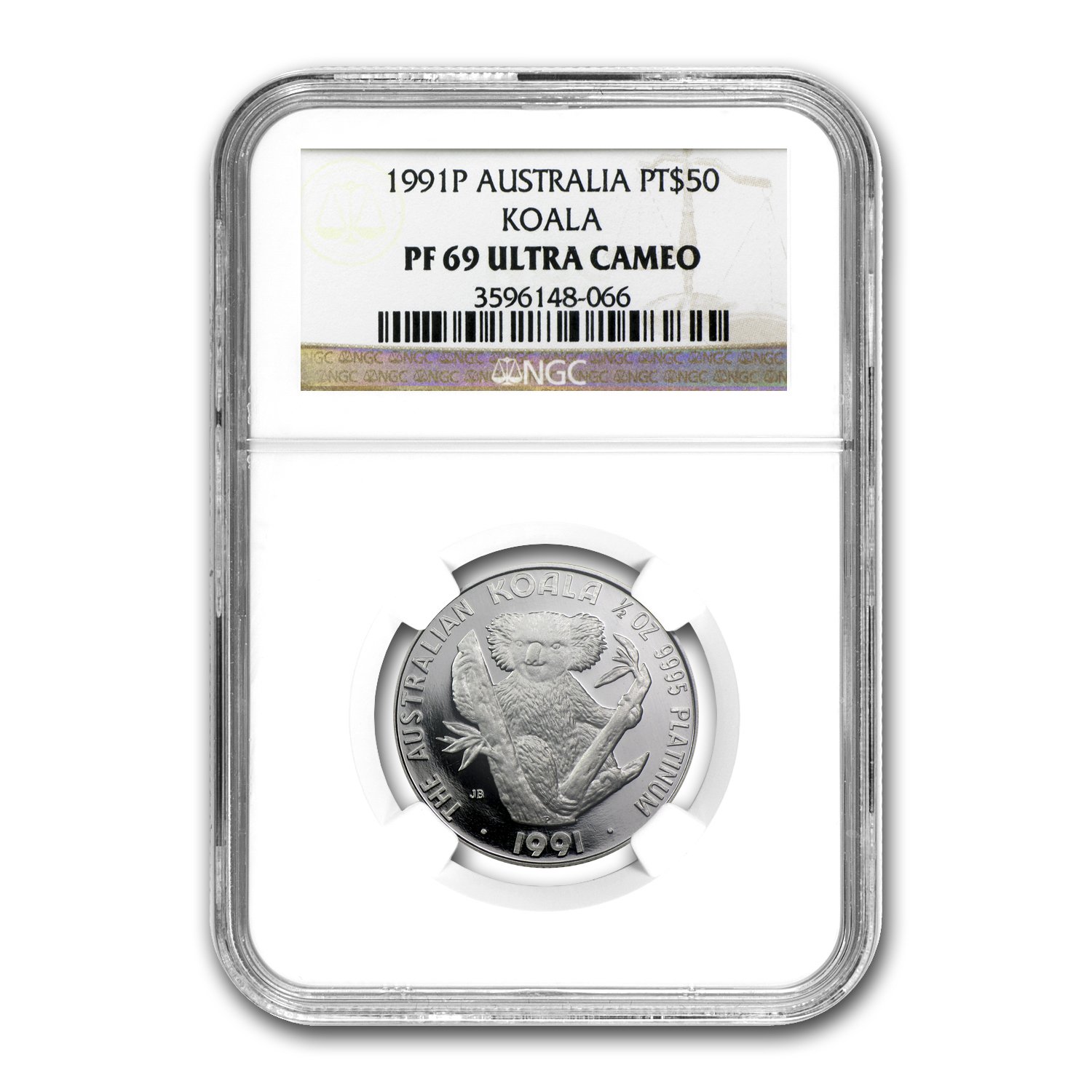 1991 Australia 1/2 oz Proof Platinum Koala PF-69 NGC