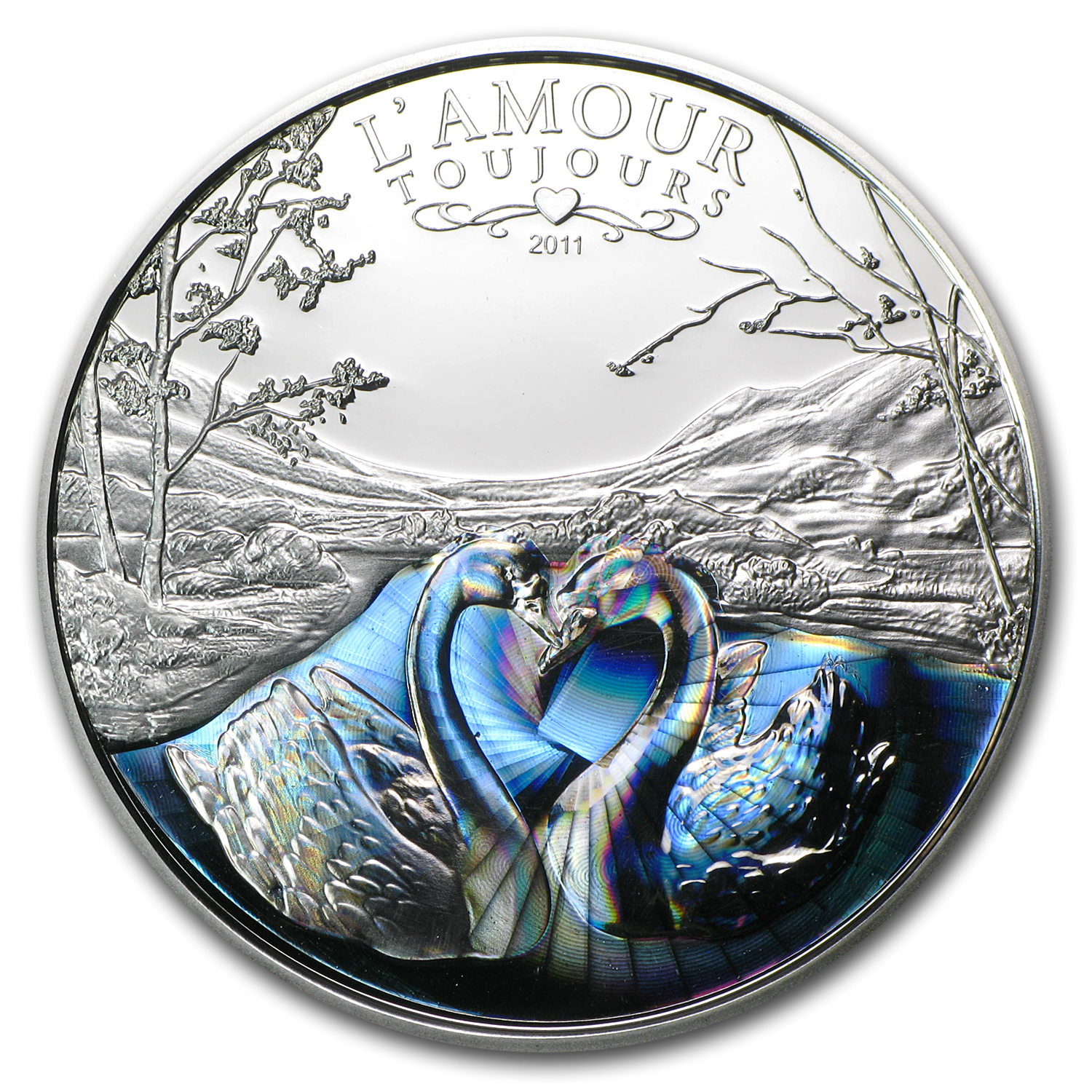2011 Cameroon Proof Silver 1000FR CFA Francs L'Amour Toujours
