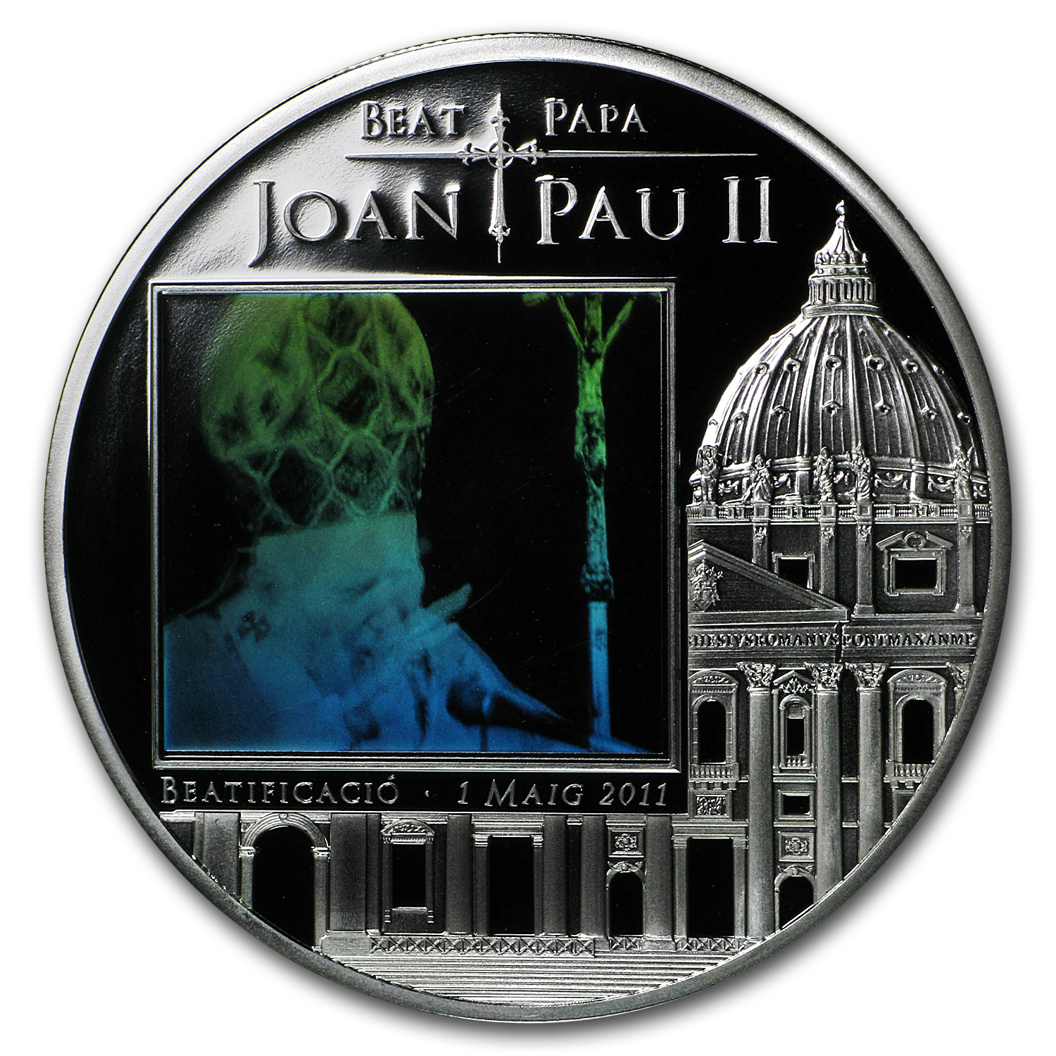 Andorra 2011 Proof Silver 5 Diners Beatification of John Paul II