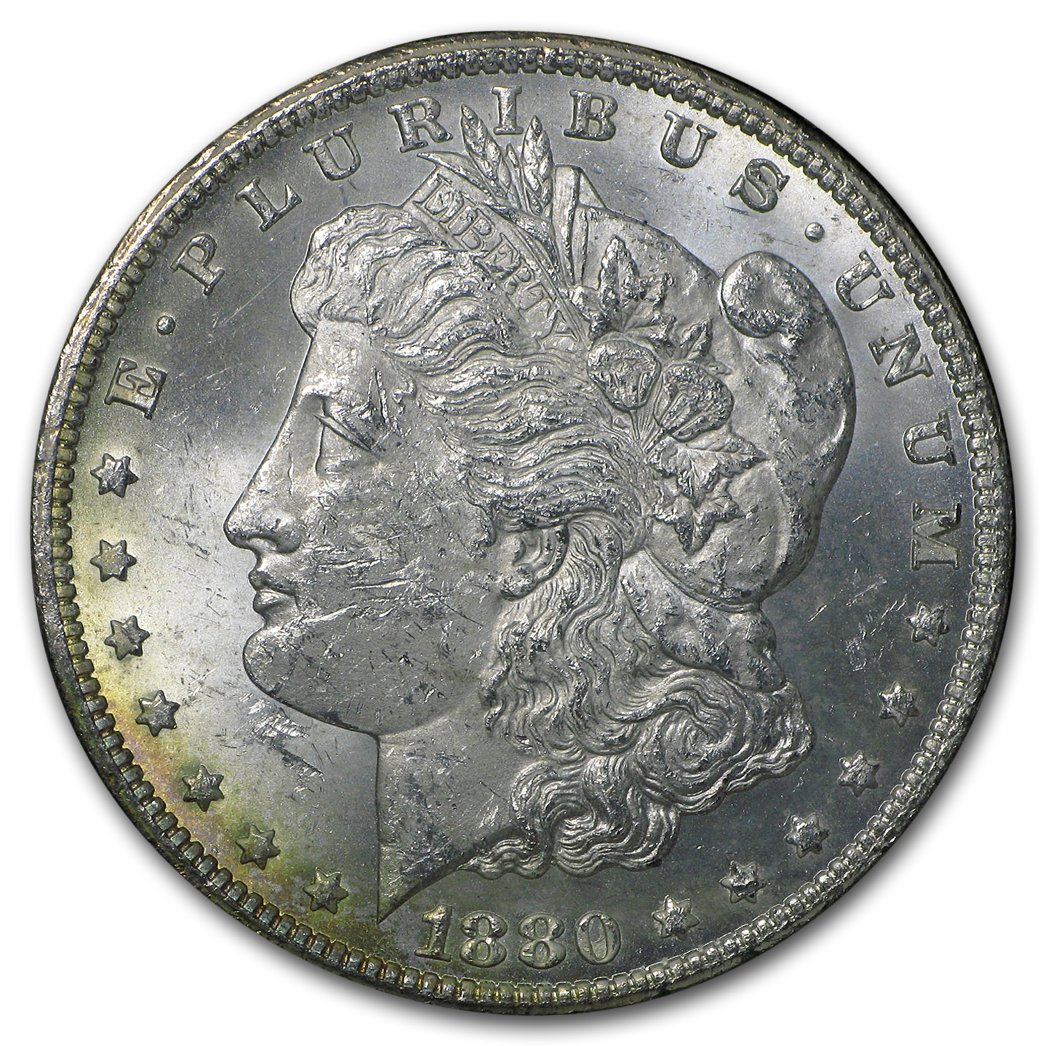 1880-CC 80/79 Rev of 78 Morgan Dollar MS-61 NGC (VAM-4, GSA)