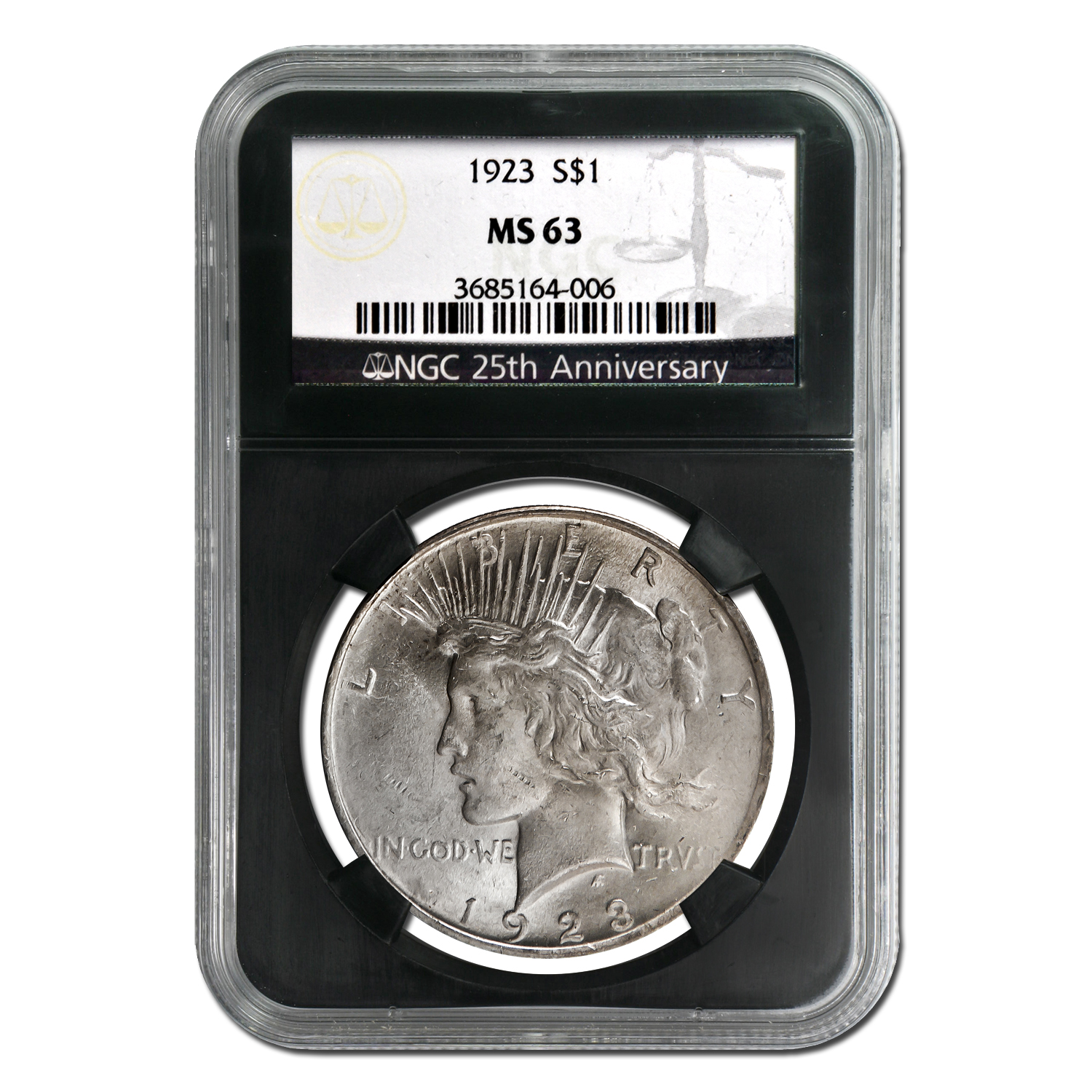 1922-1925 Peace Dollar Set MS-63 NGC (4 Coin 25th Anniversary)